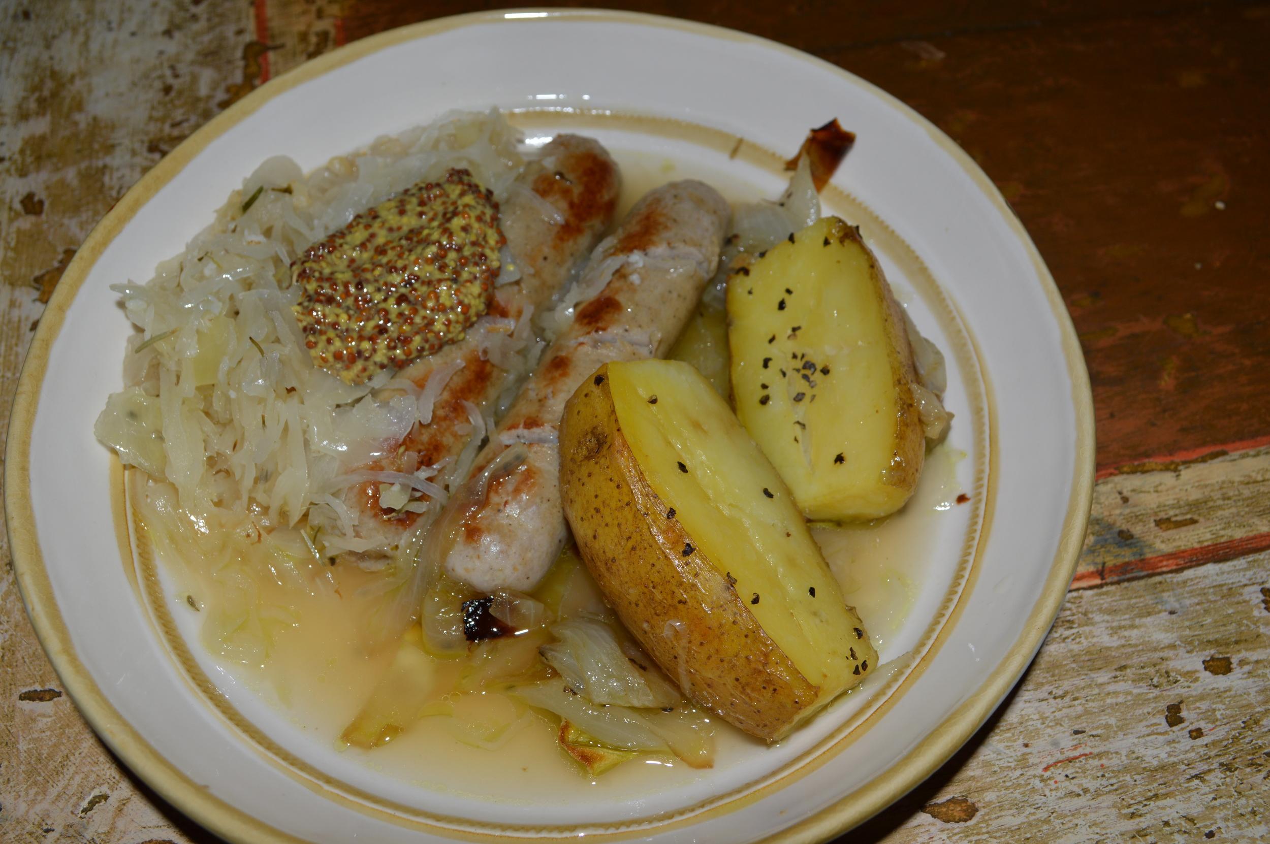 Bratwurst & Sauerkraut