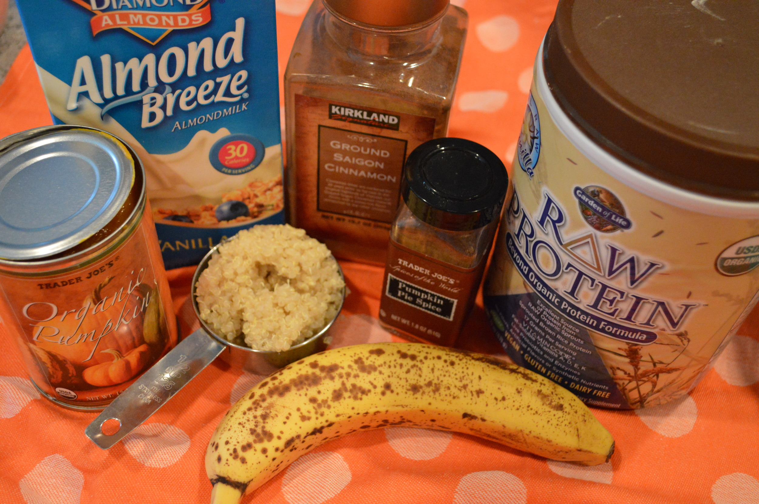 Quinoa Pumpkin Smoothie Ingredients