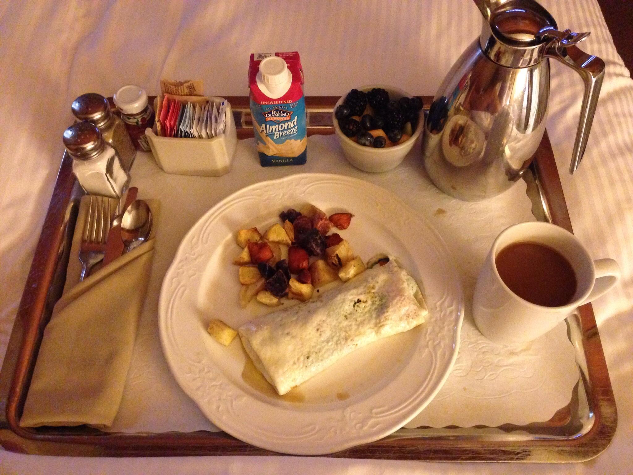 The Driskill breakfast