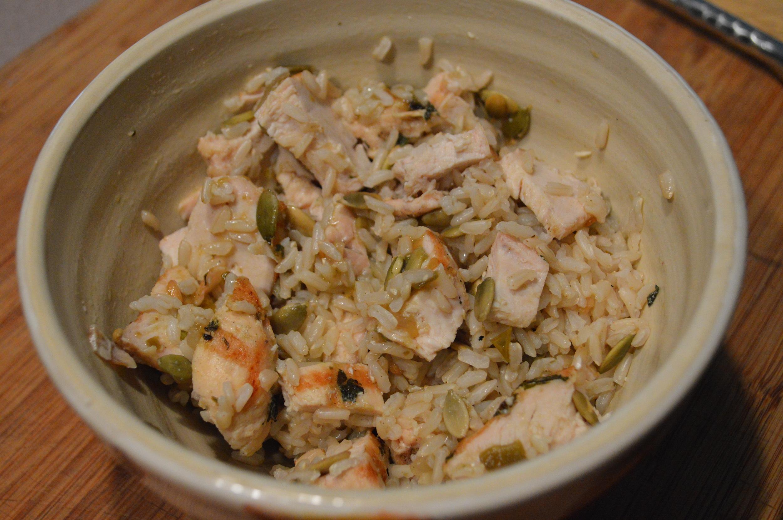 Chicken, Pepitas & Brown Rice