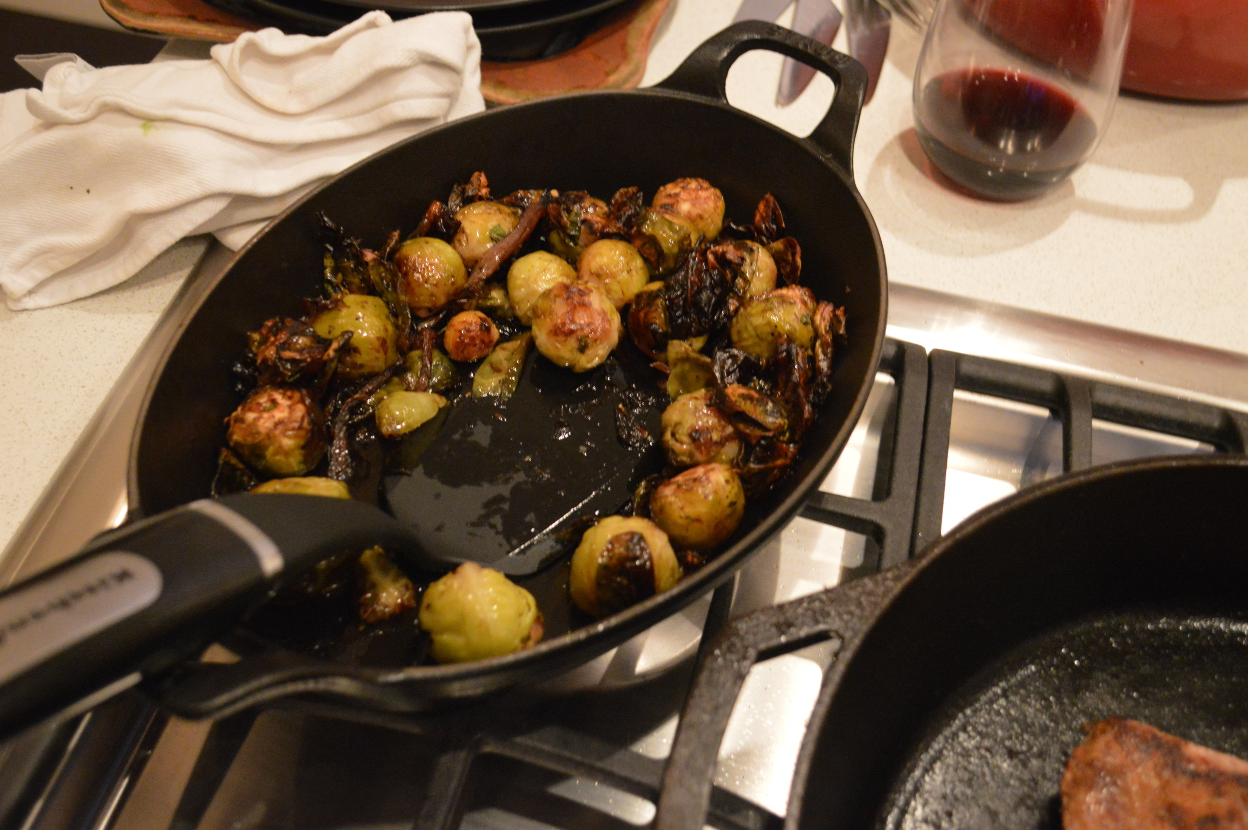 Roasted Brussels