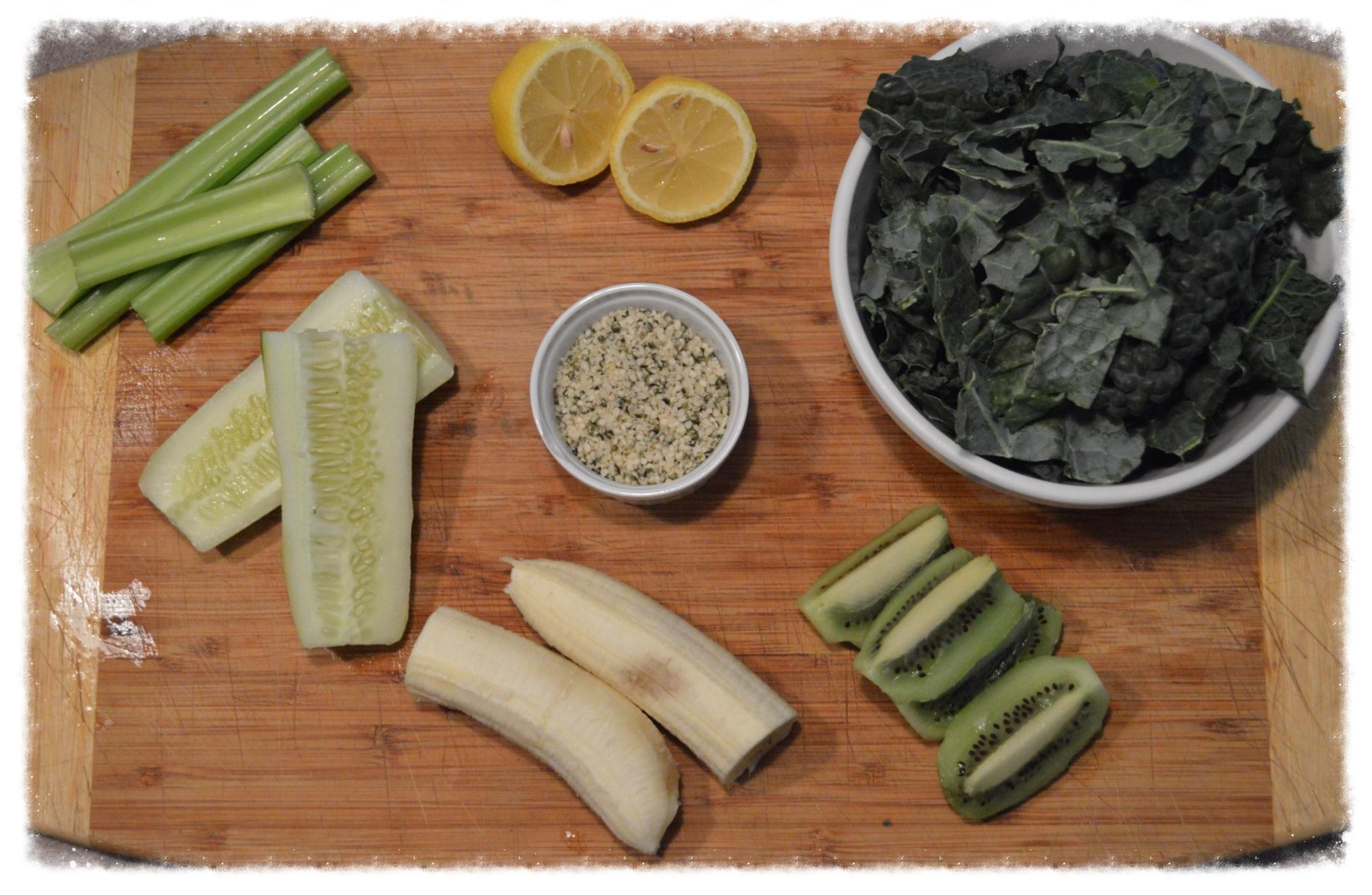 Kale Green Smoothie Ingredients