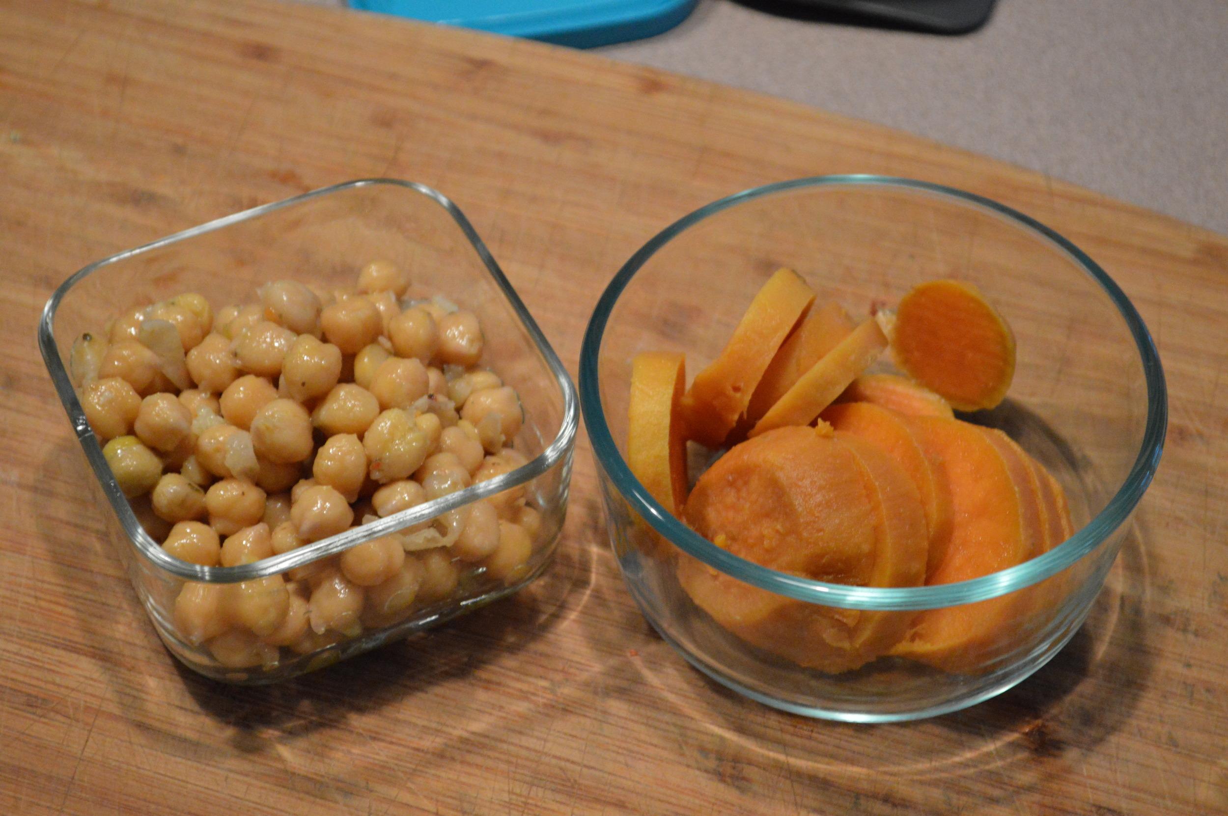 Chi Chi Beans + Sweet Potatoes