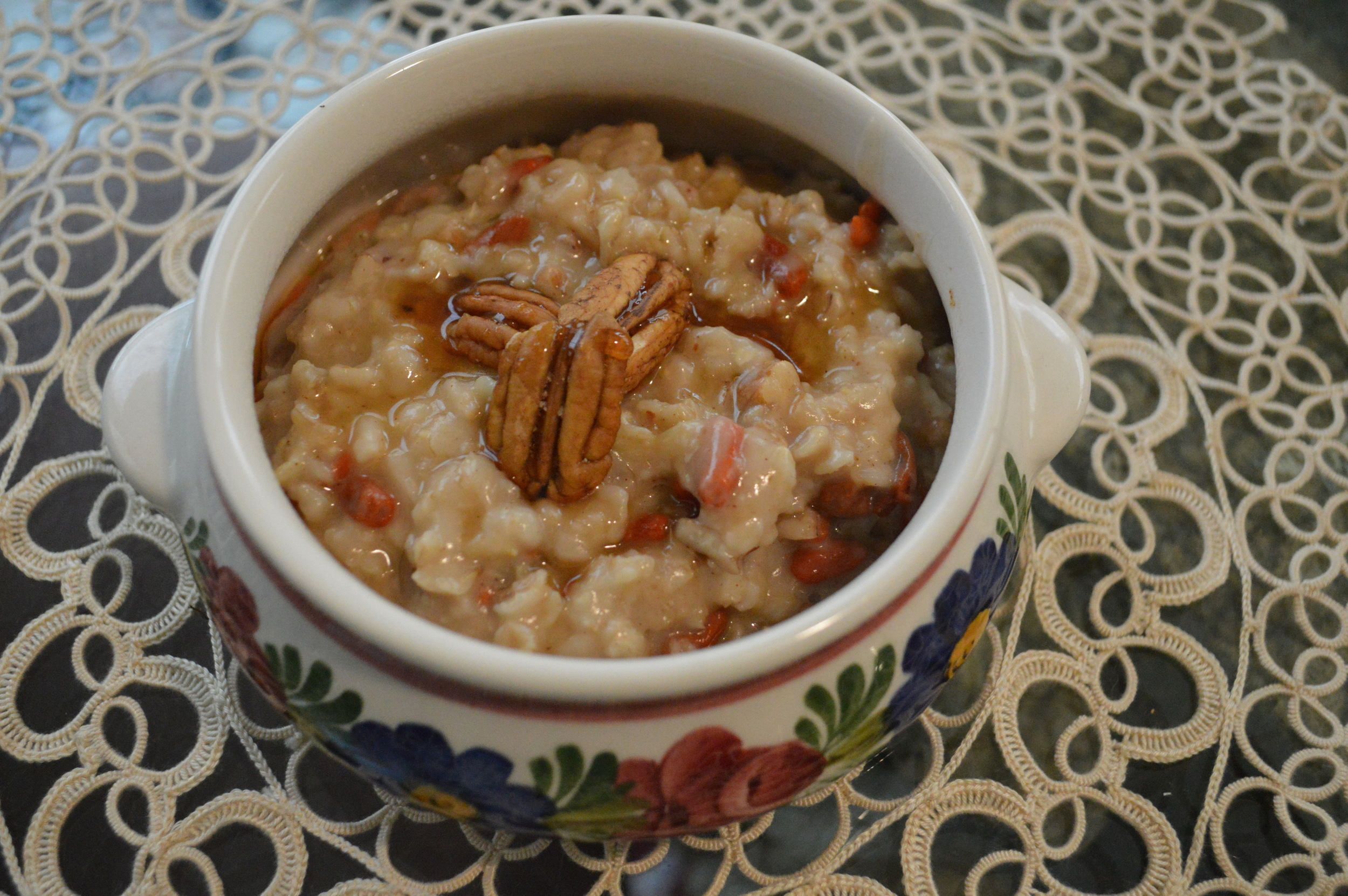 Goji Berry + Pecan Winter Oatmeal