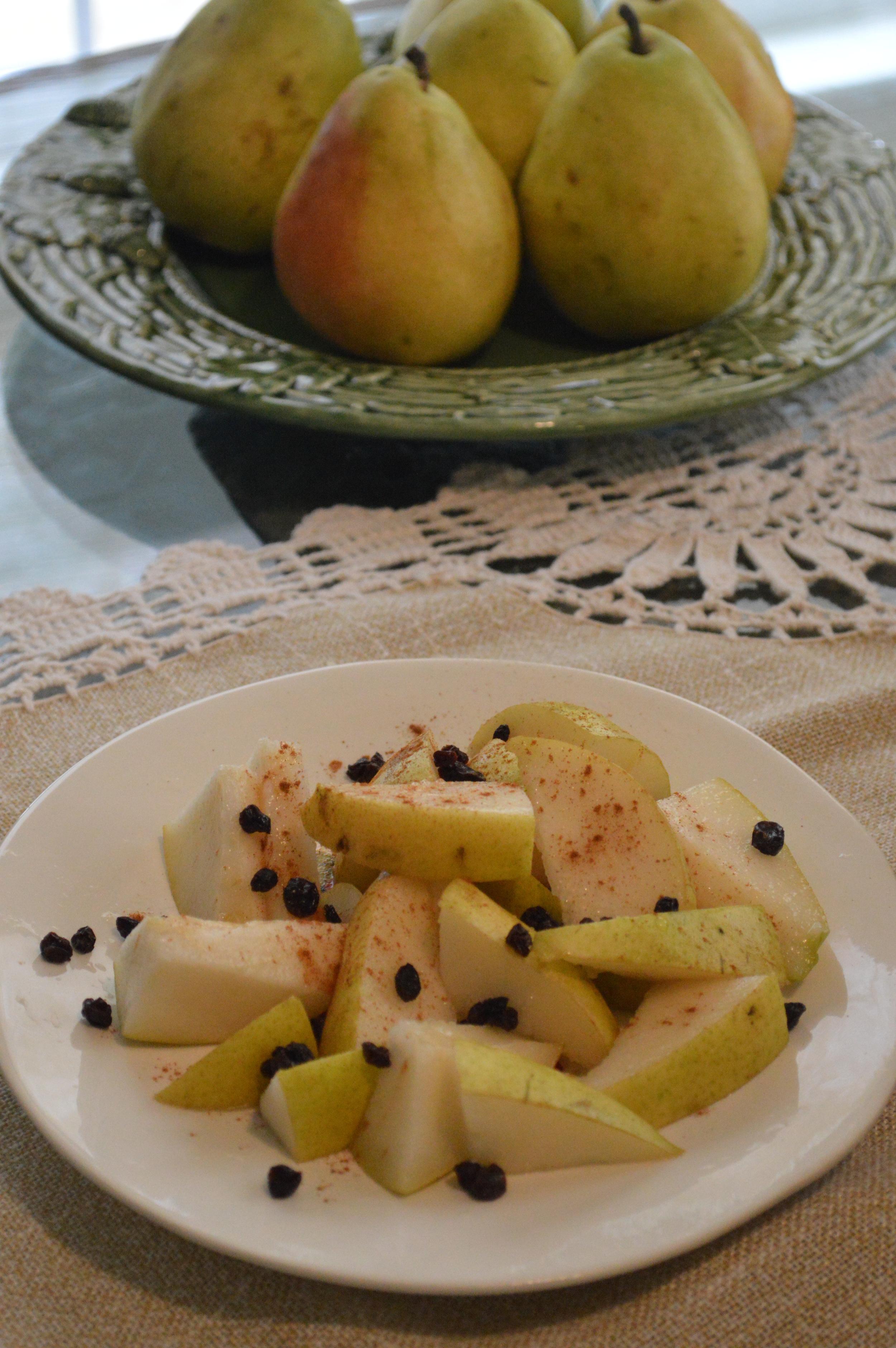 Pear, Cinnamon + Currants