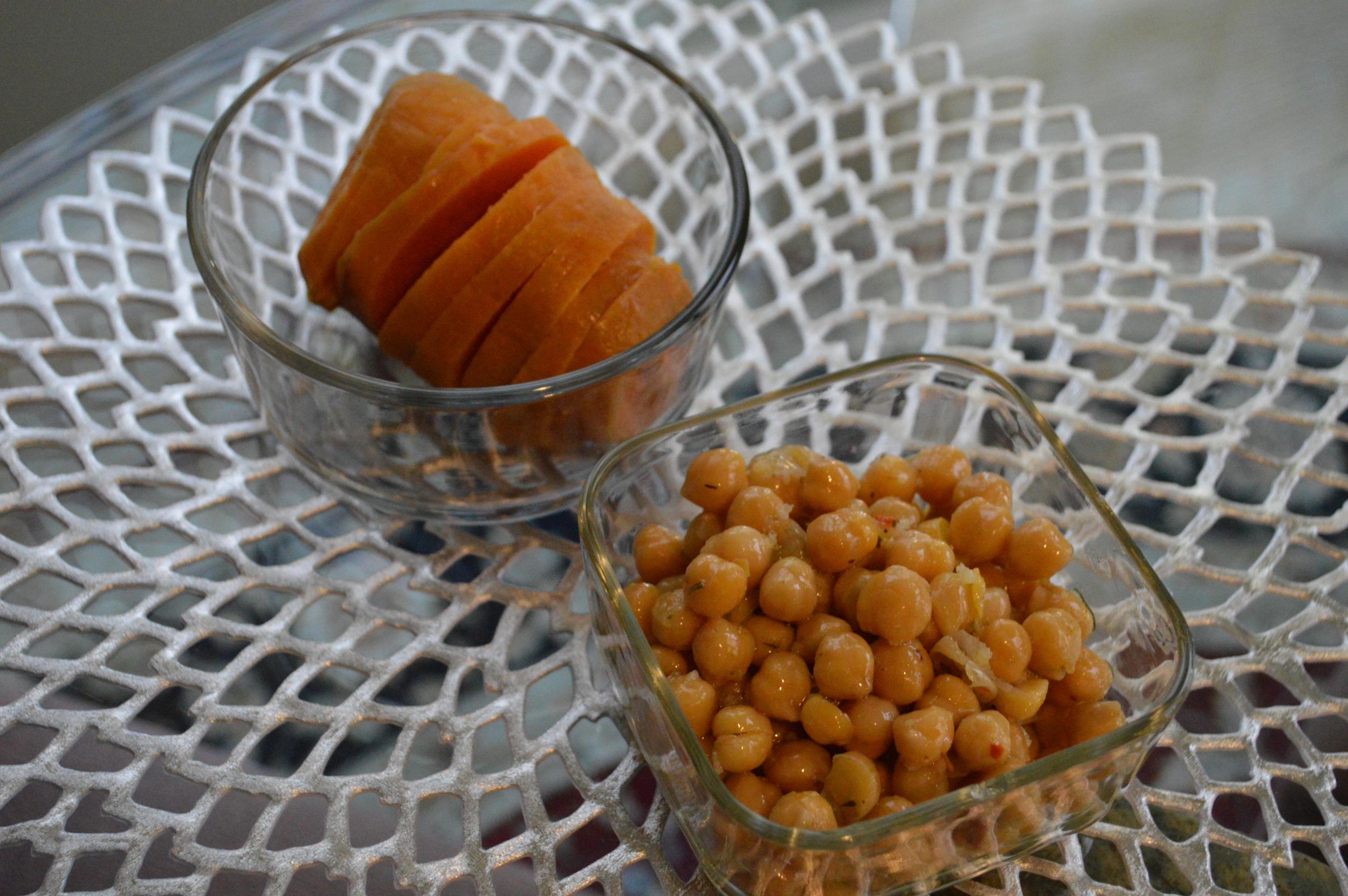 Sweet Potatoes & Chick Peas