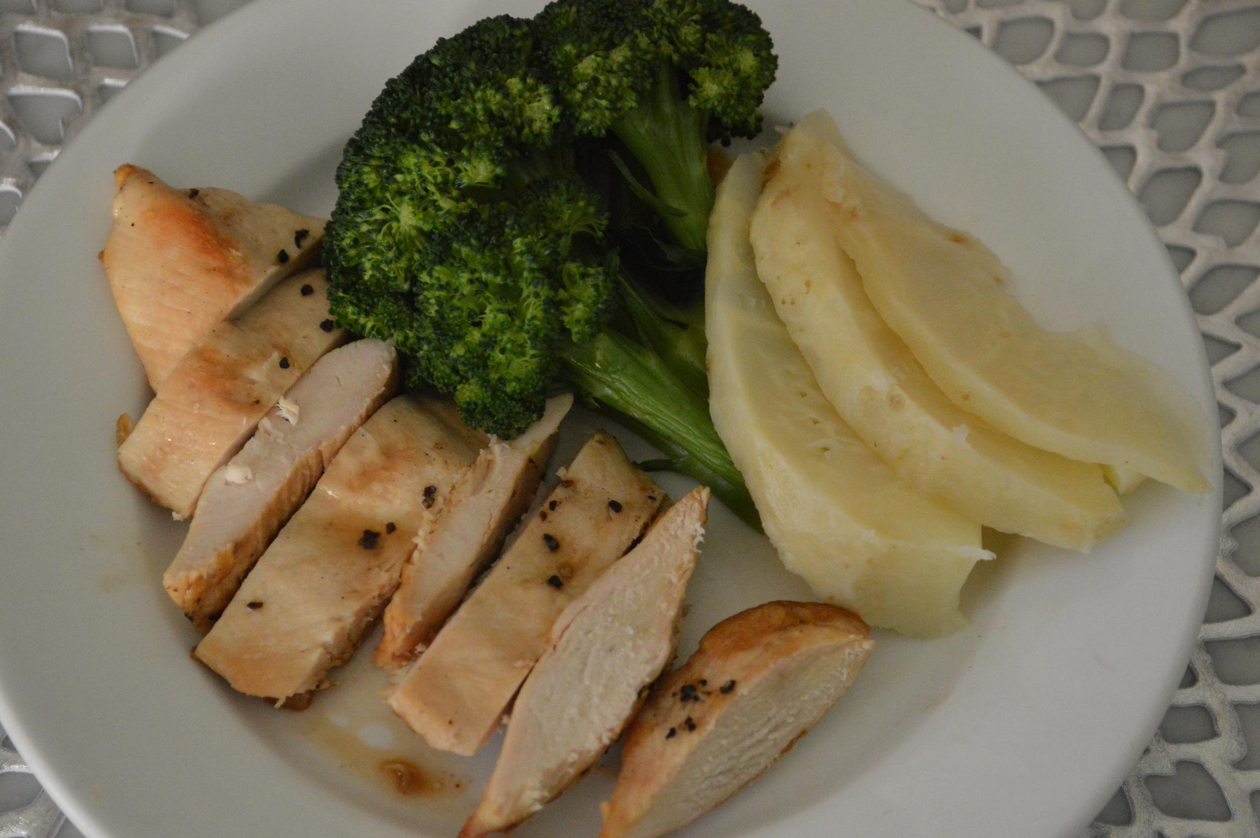 Chicken, Broccoli & Celery Root