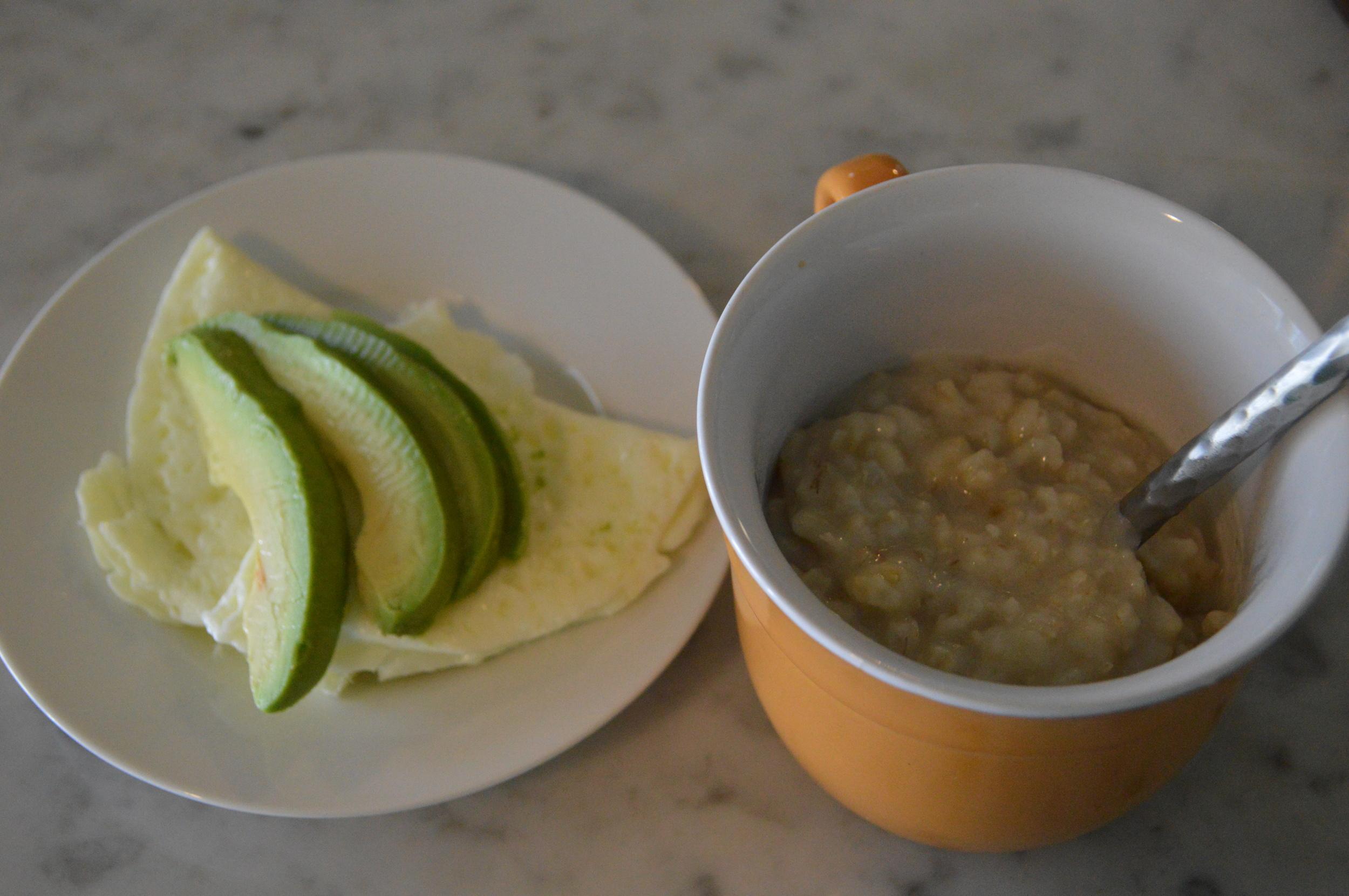 Egg Whites, Avocado & Plain Oatmeal