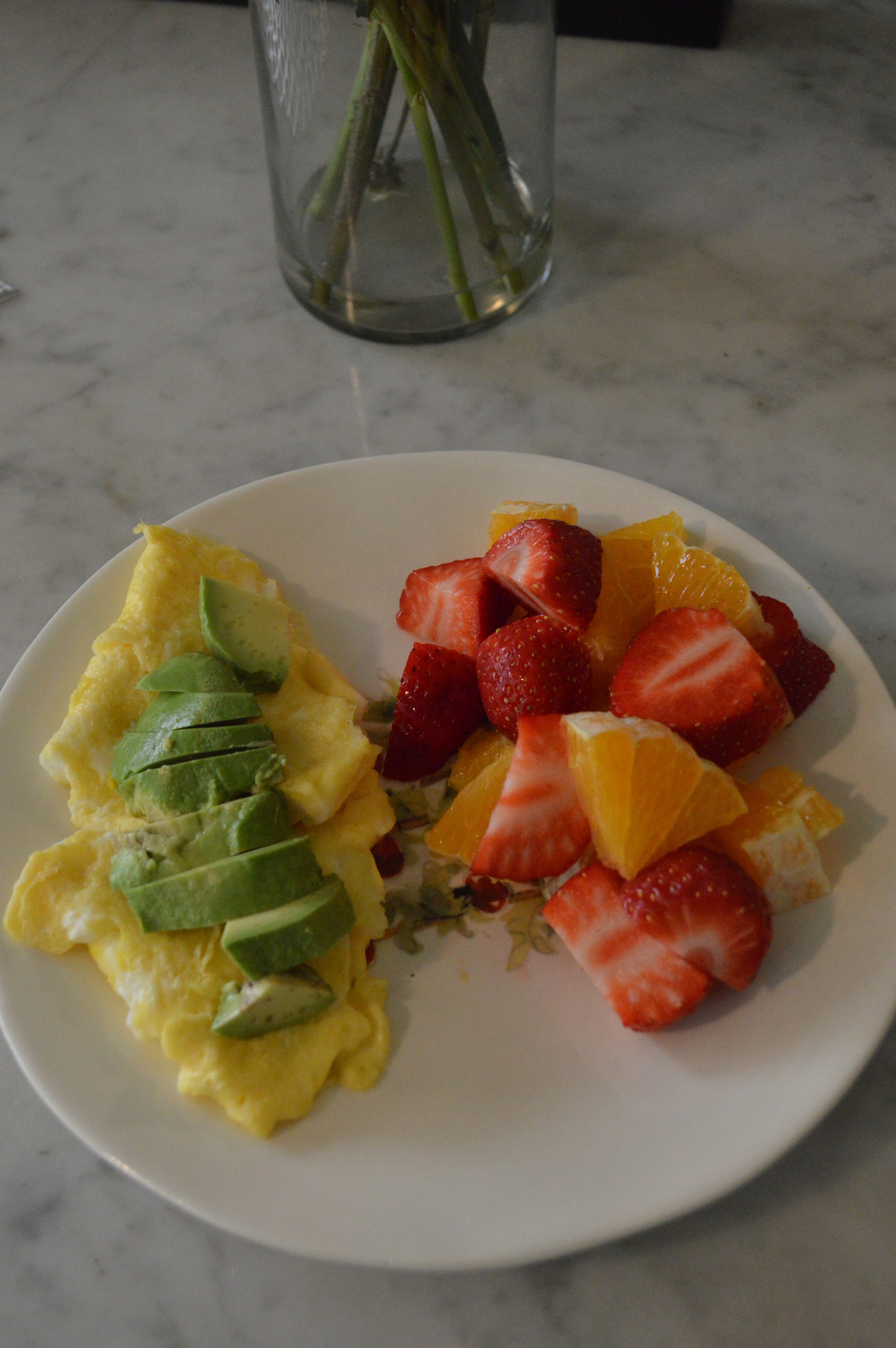 Eggs & Avocado + Fruit