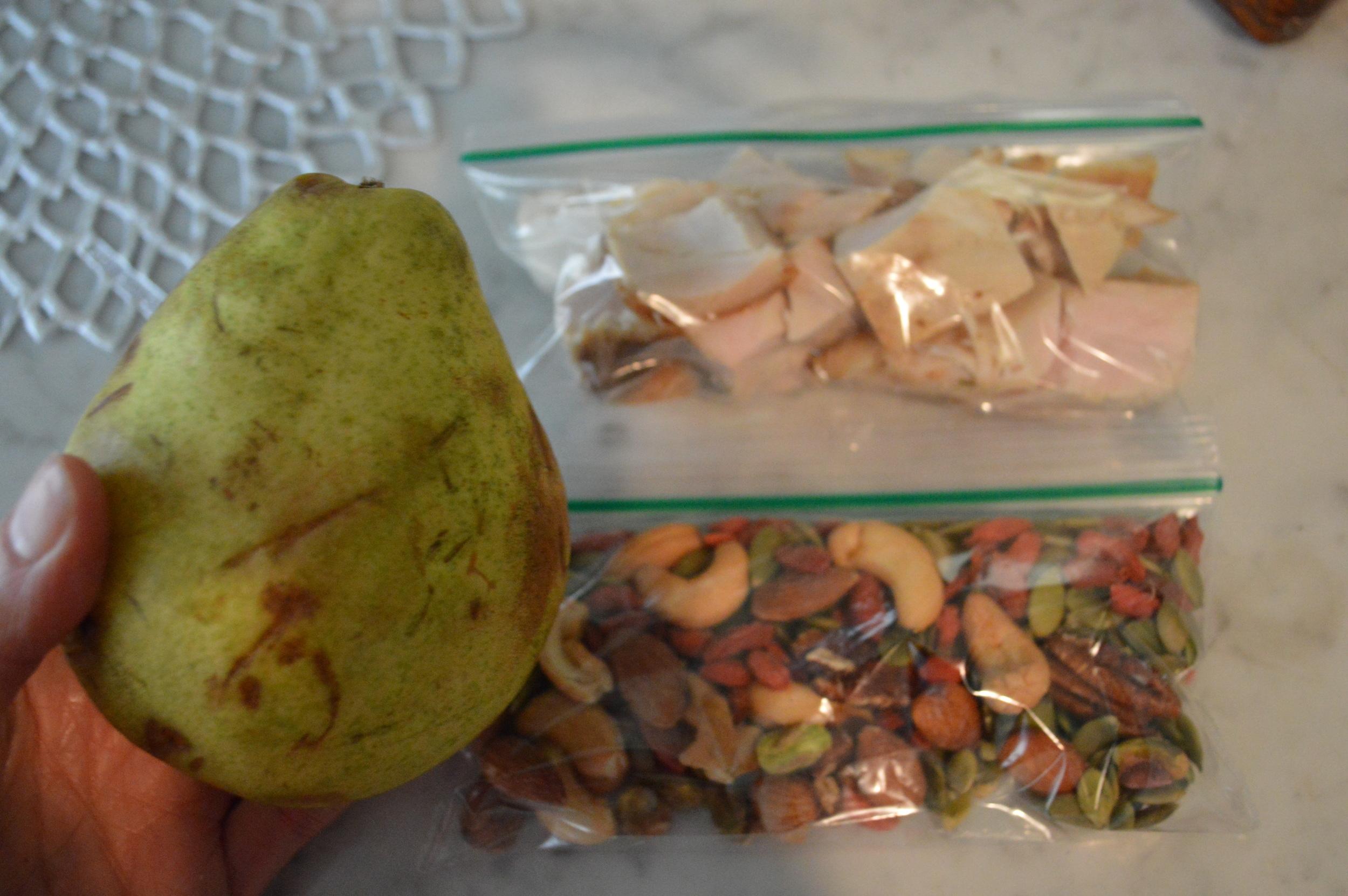 Pear + Nuts + Turkey Breast