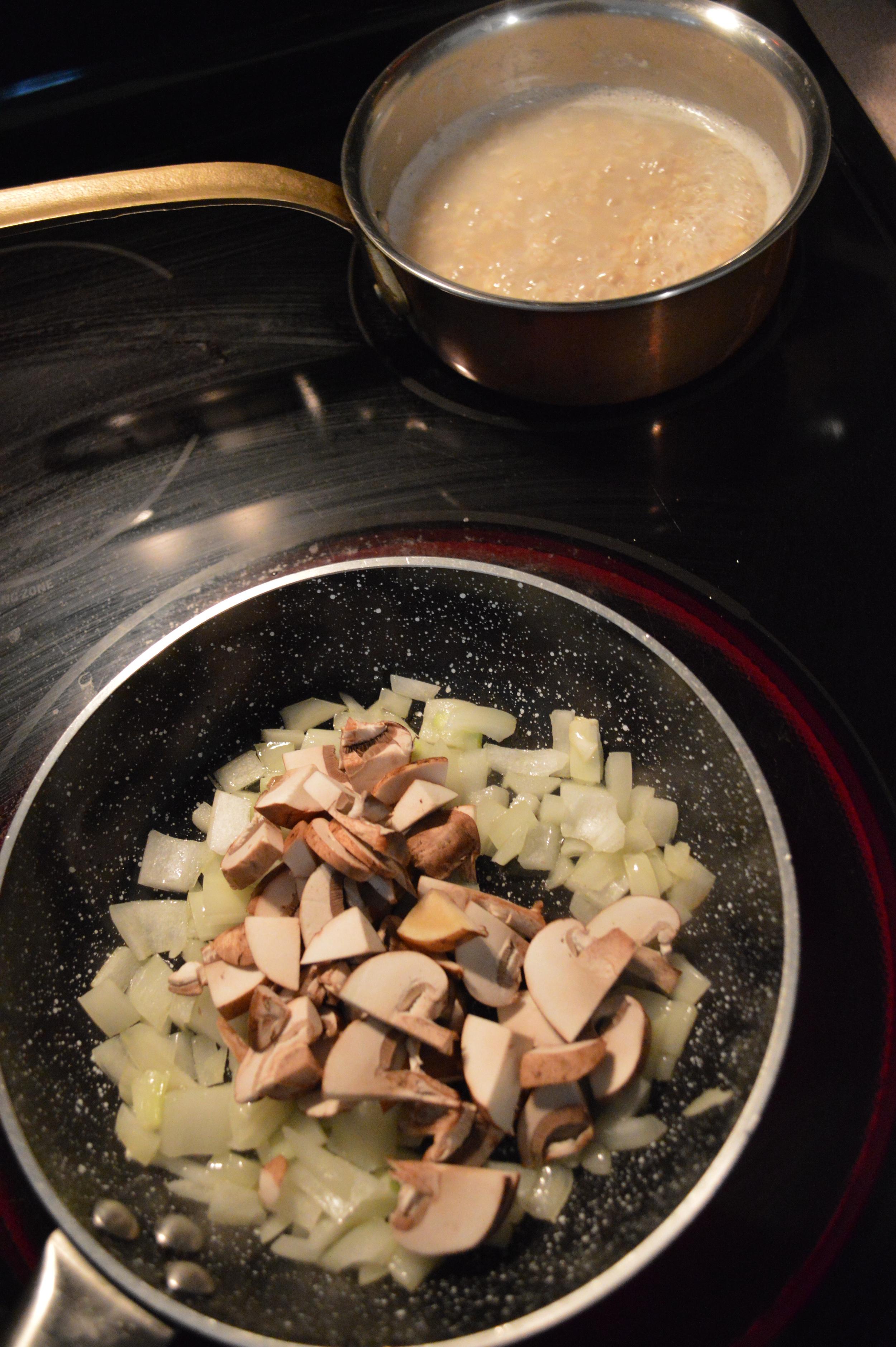 Onions + Mushrooms - Savory Oatmeal