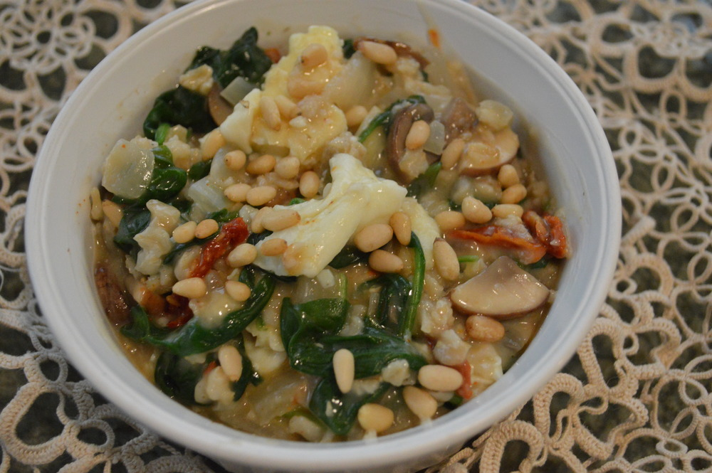 Spinach,Onion,Mushroom&SundriedTomato-SavoryOats