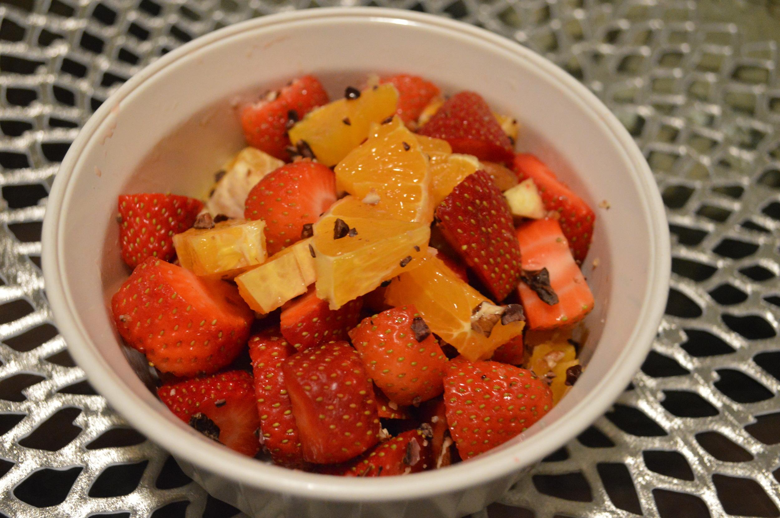 Strawberries, Oranges, Cacao Nibs