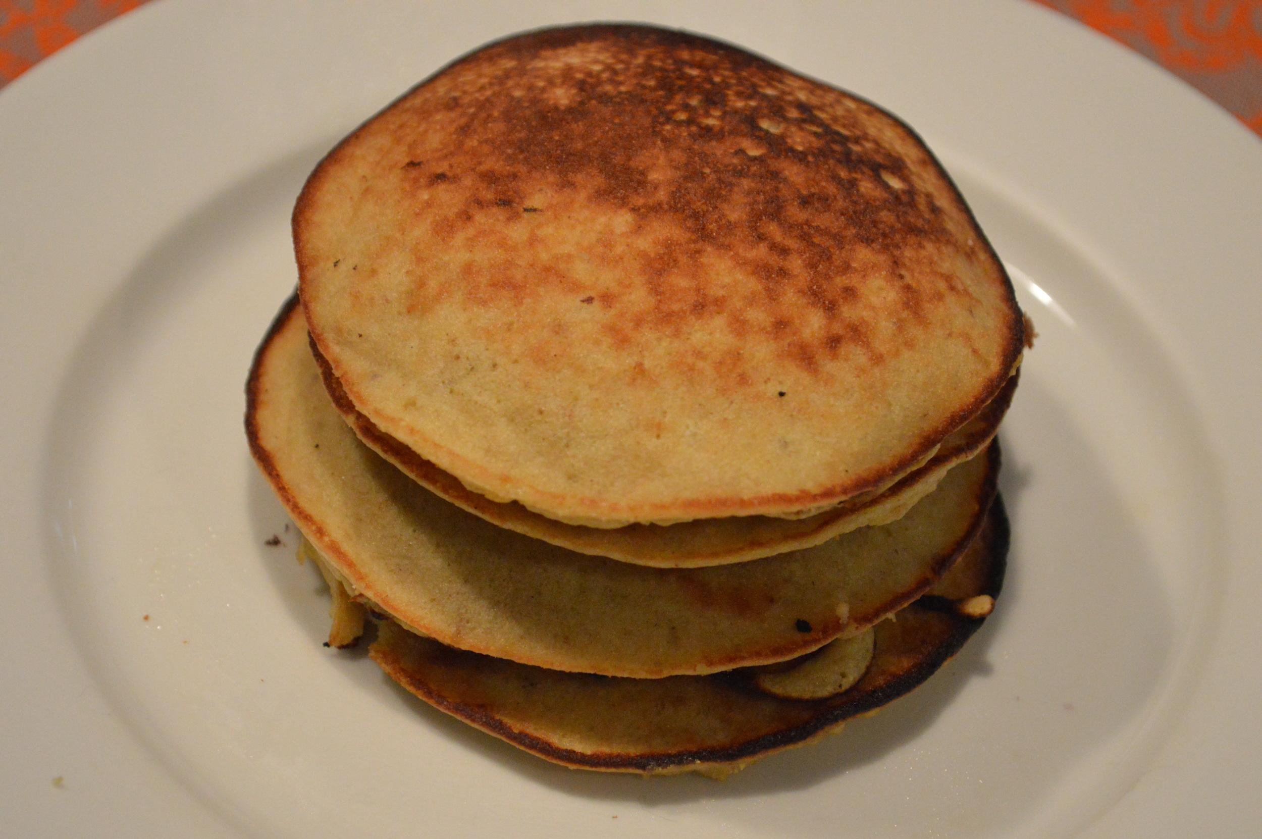Banana Coconut Paleo Pancakes