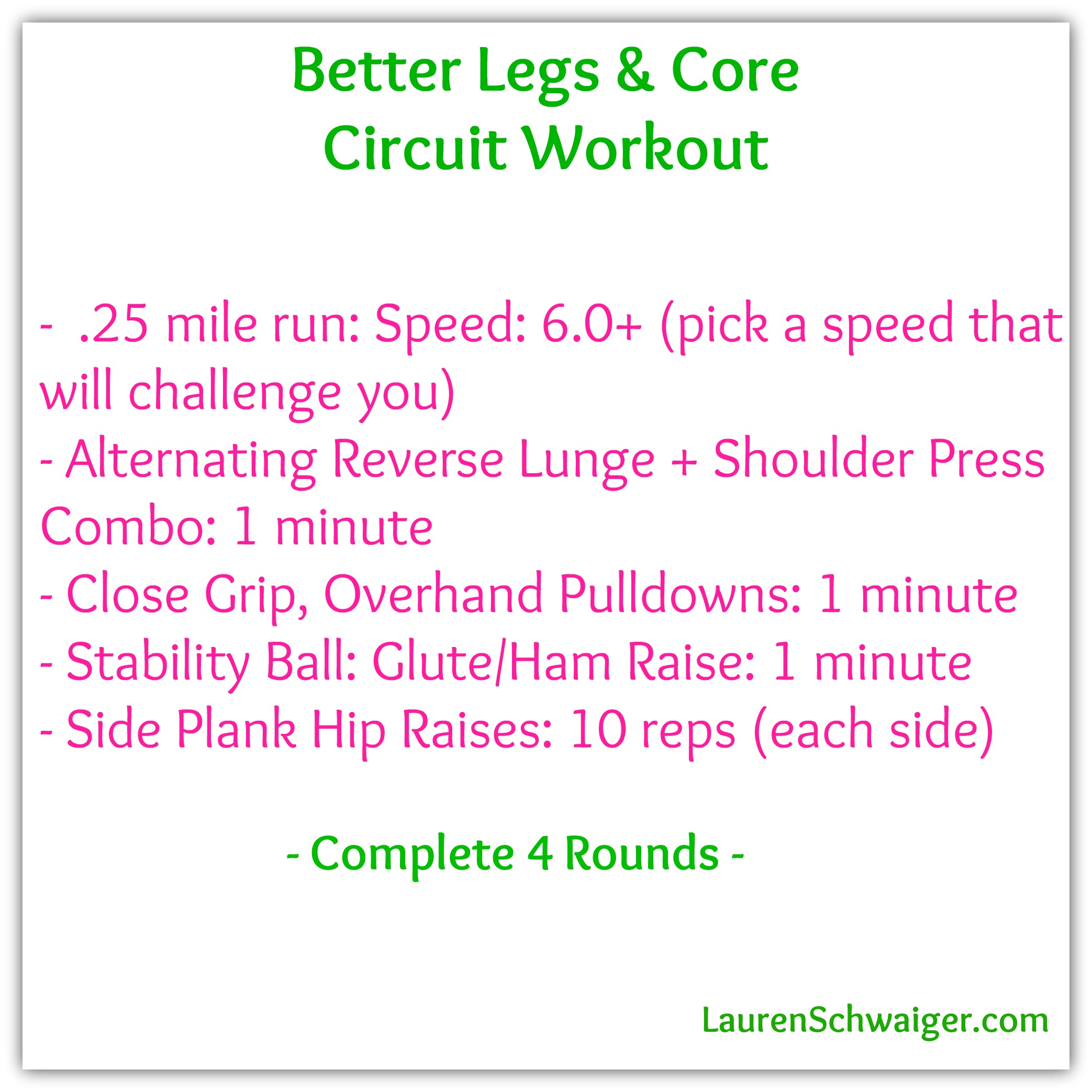 Better Legs & Core Circuit Workout - LaurenSchwaiger.com