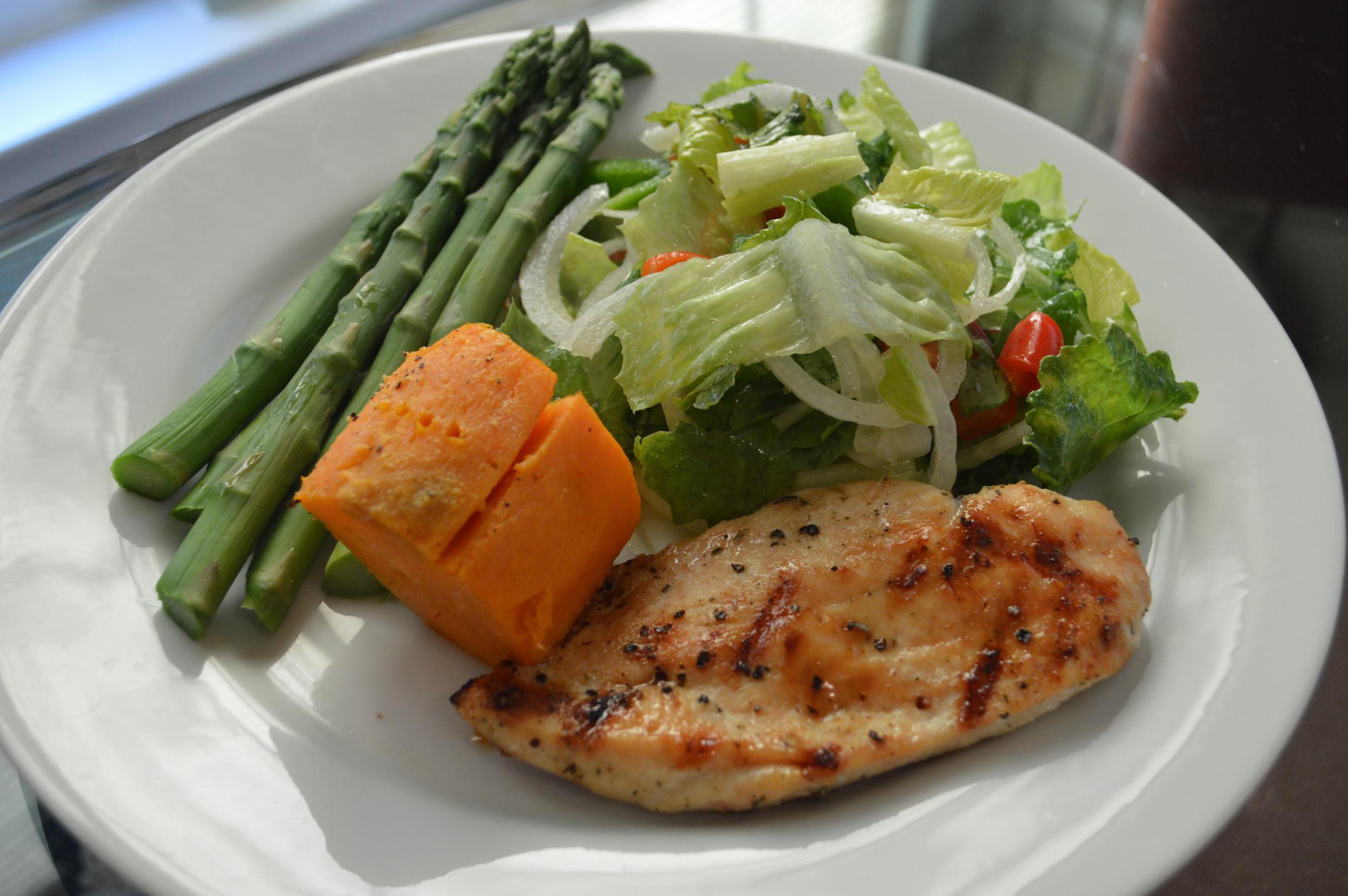 Chicken, Sweet Potato & Asparagus