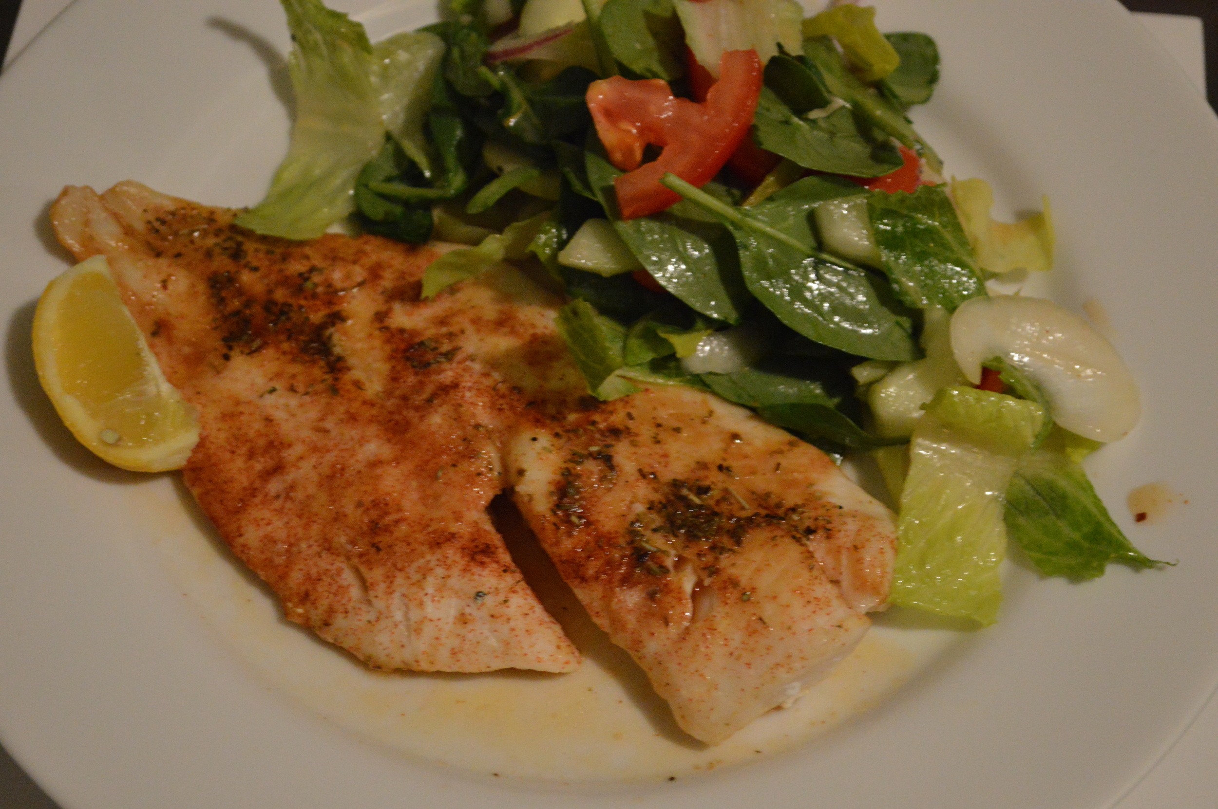Cod + Salad