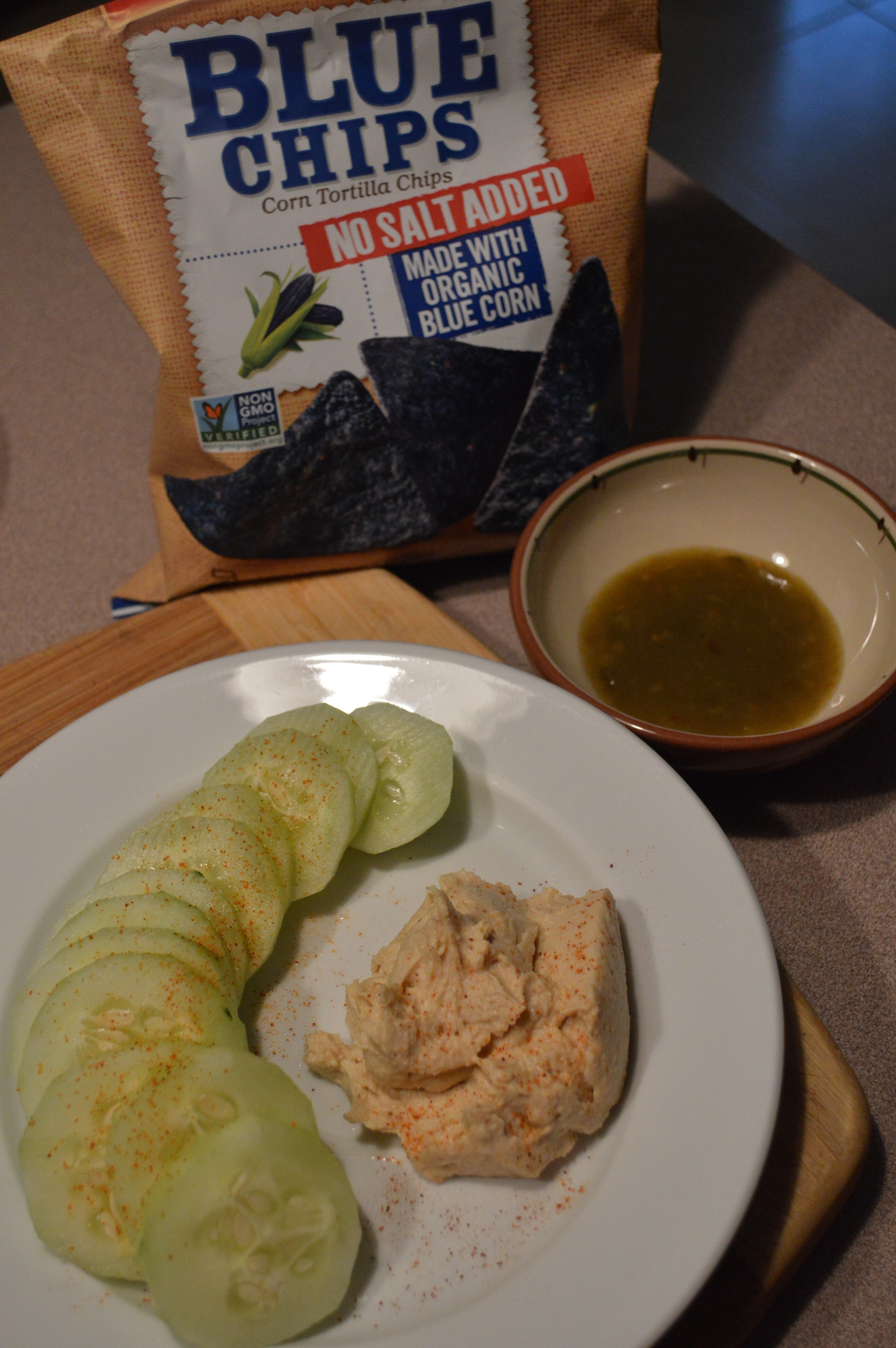 Cucumbers & Hummus