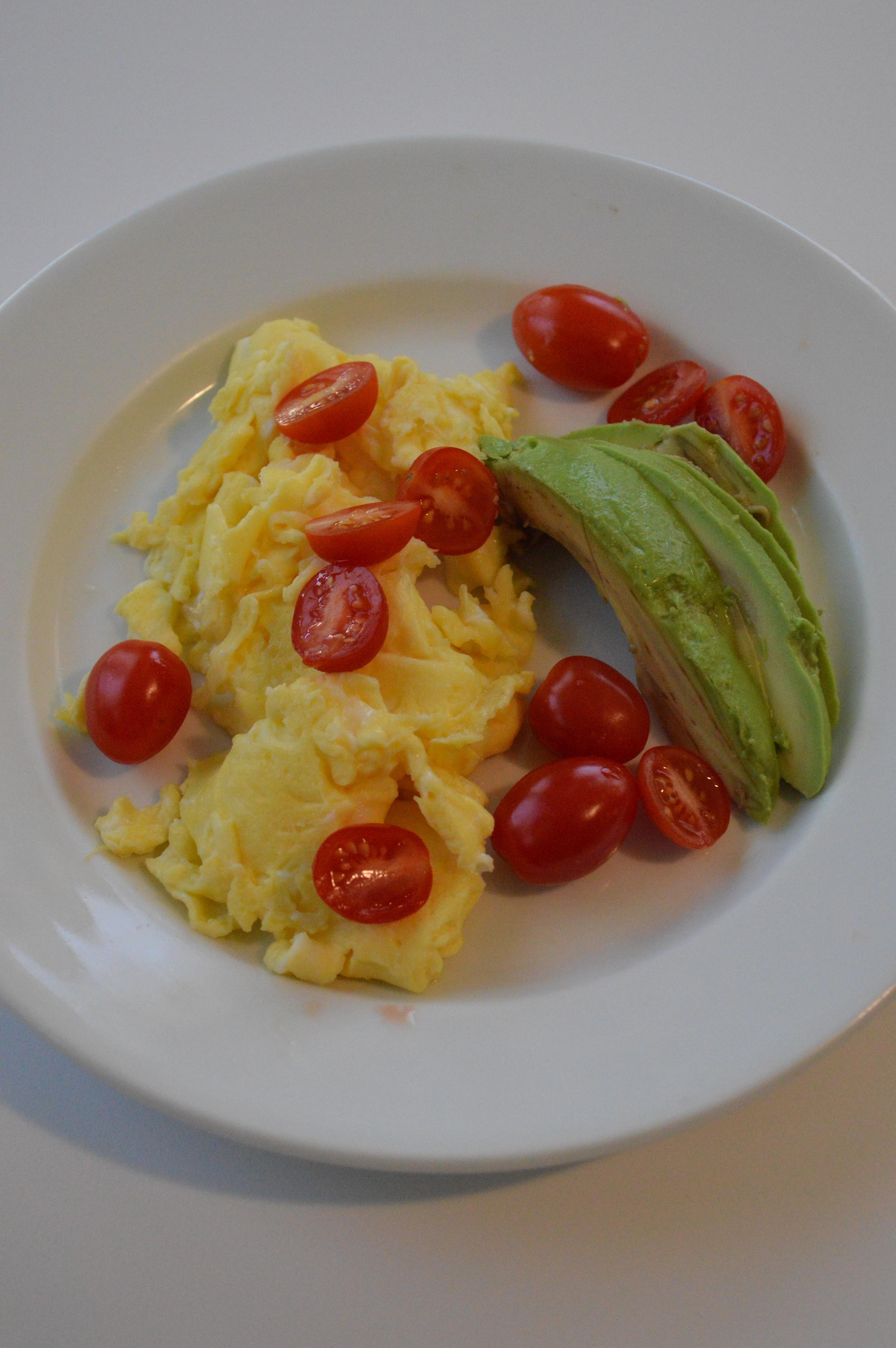 Eggs, Tomato, Avocado