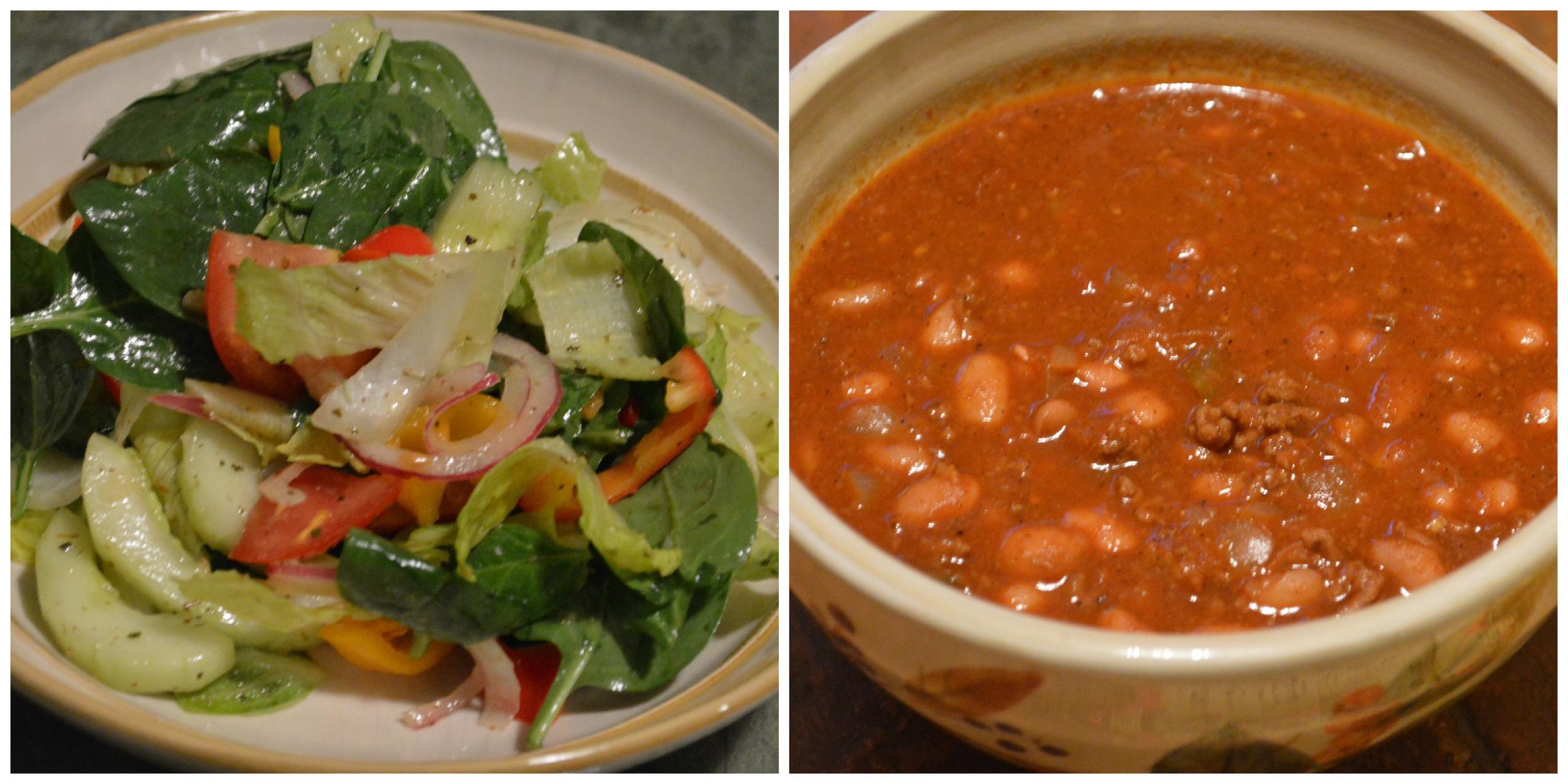 mixed salad & chili