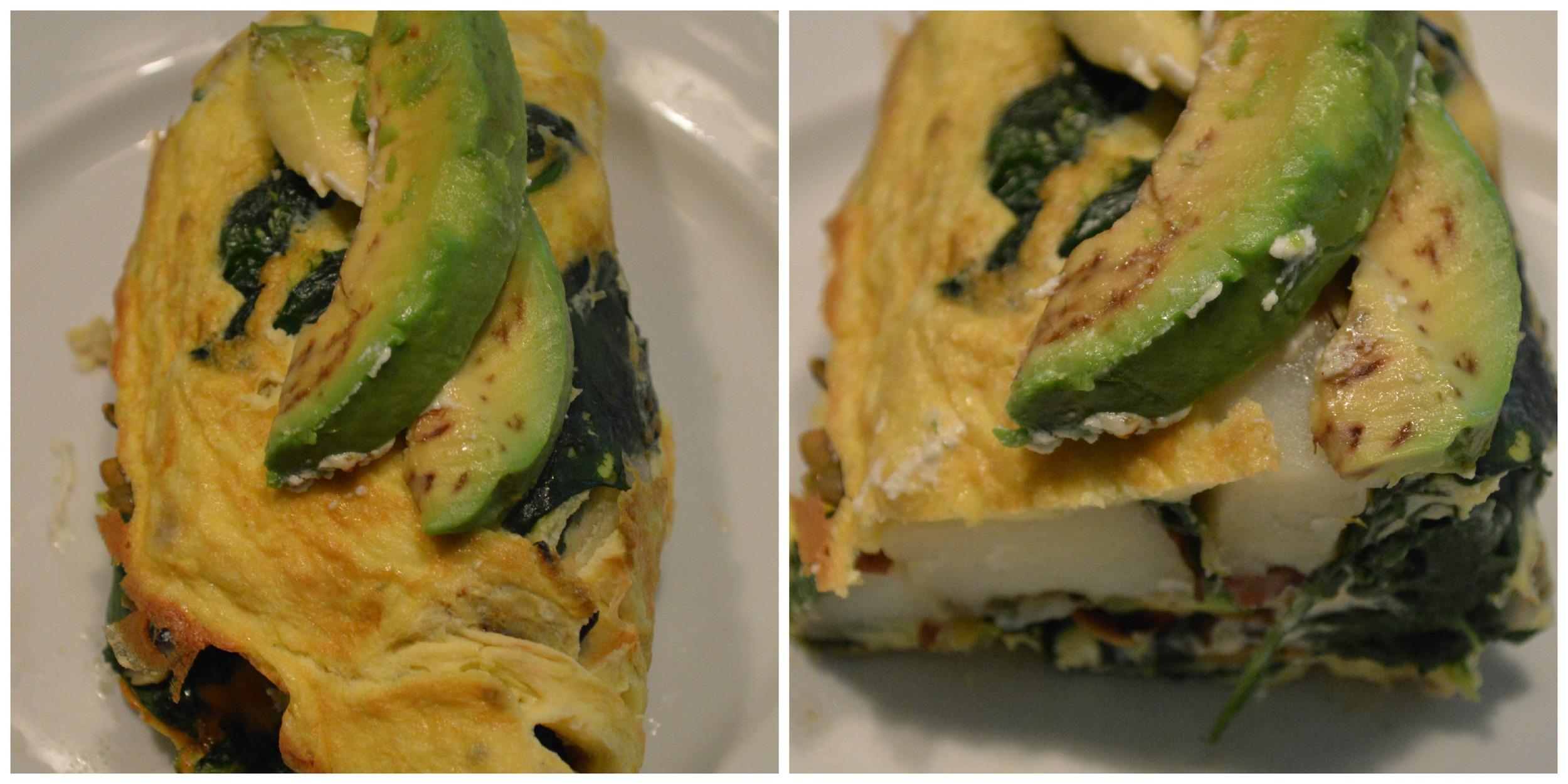 Spinach & Potato Omelette