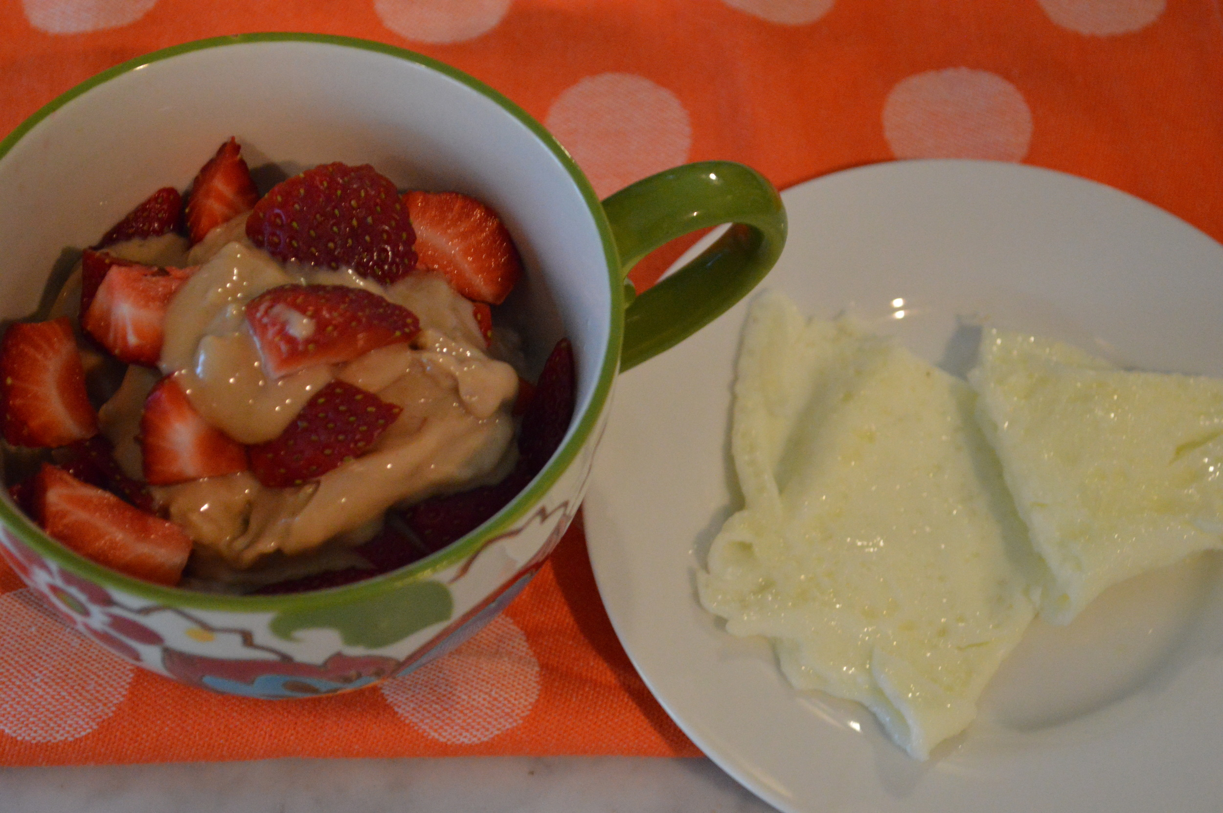 Strawberry + Peanut Butter Oatmeal