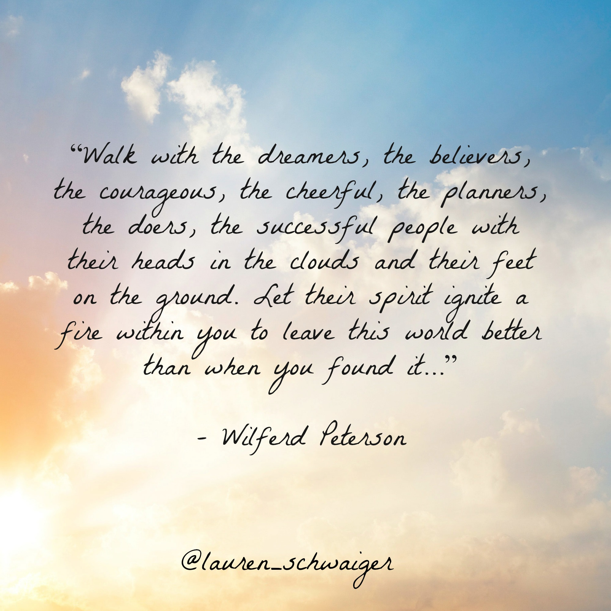 Walk With The Dreamers Quote