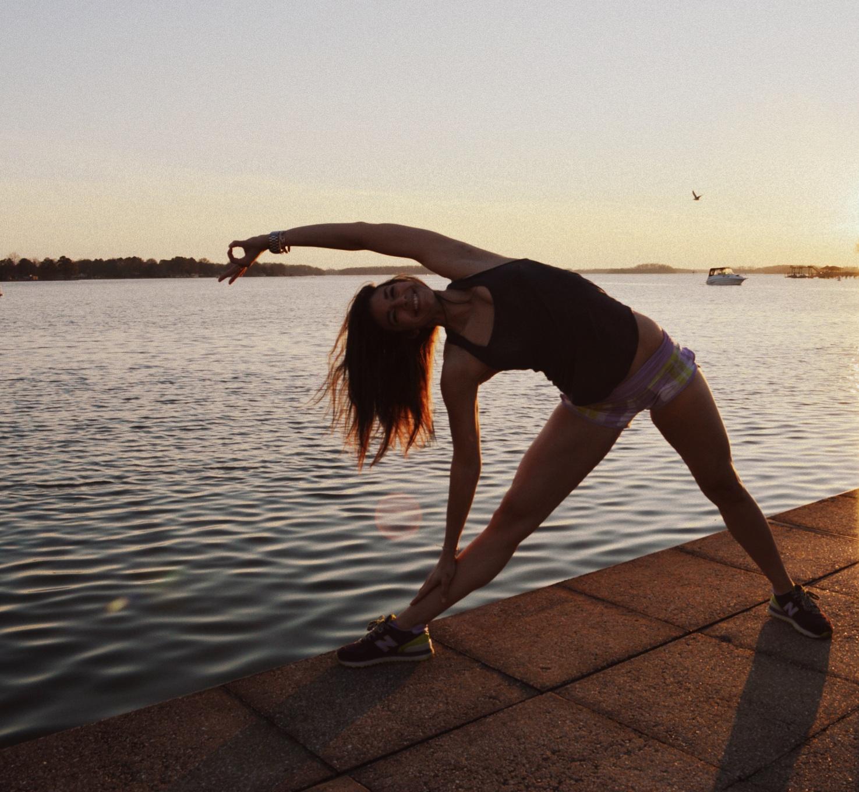 Sunset Yoga - Triangle Pose - Lauren Schwaiger