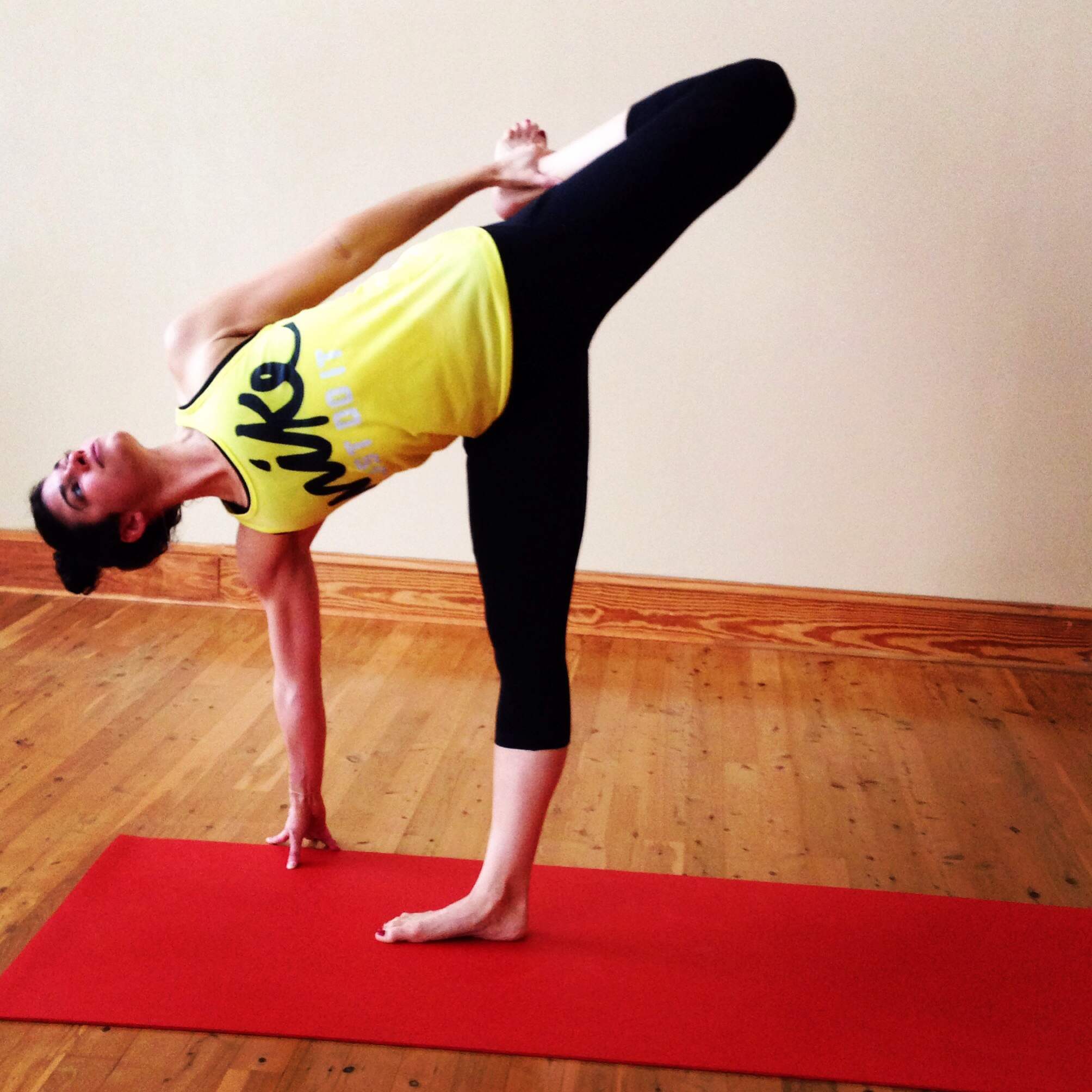 Bound Half Moon Pose - Lauren Schwaiger