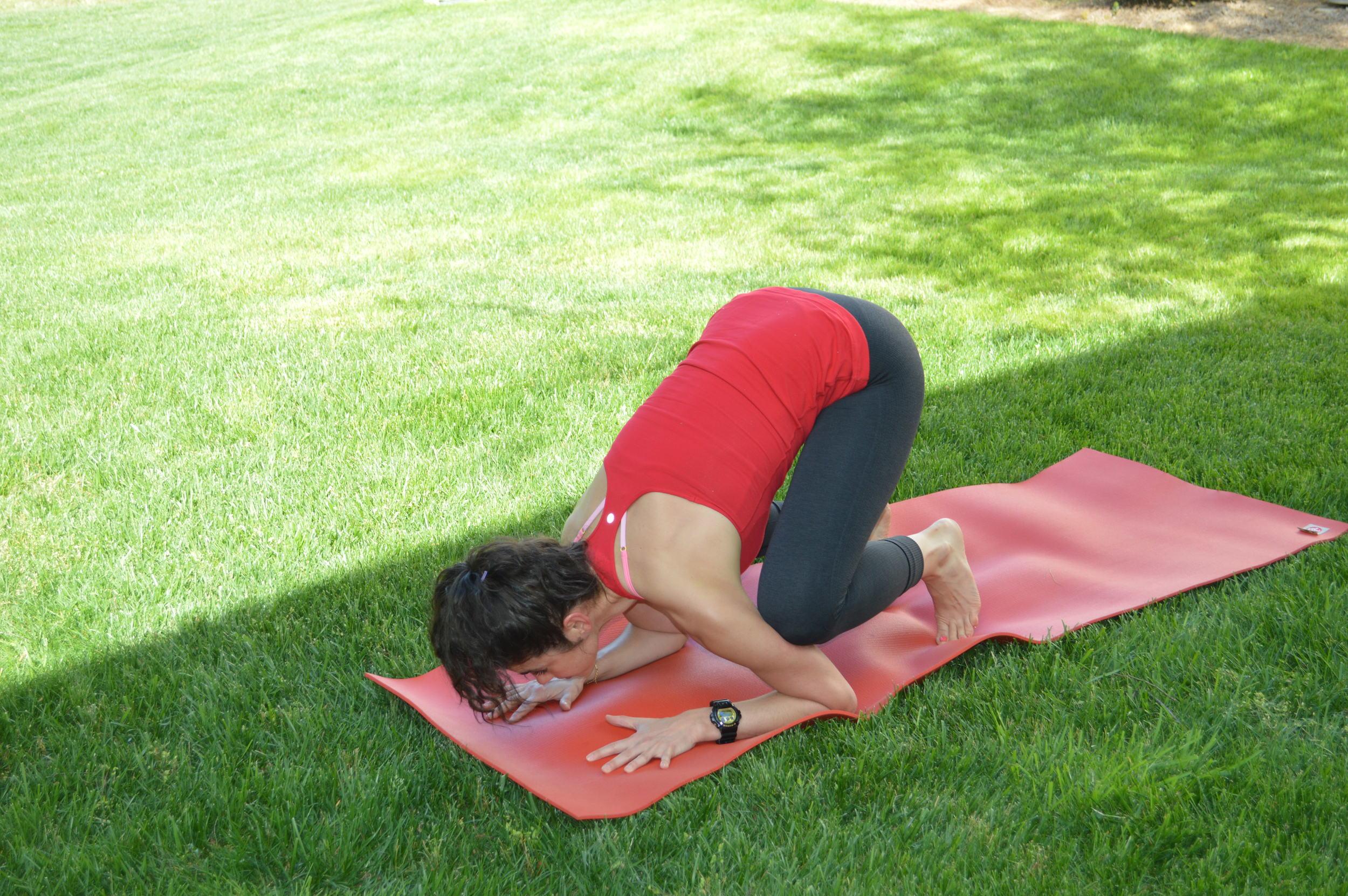 Baby Bakasana - Lauren Schwaiger Yoga