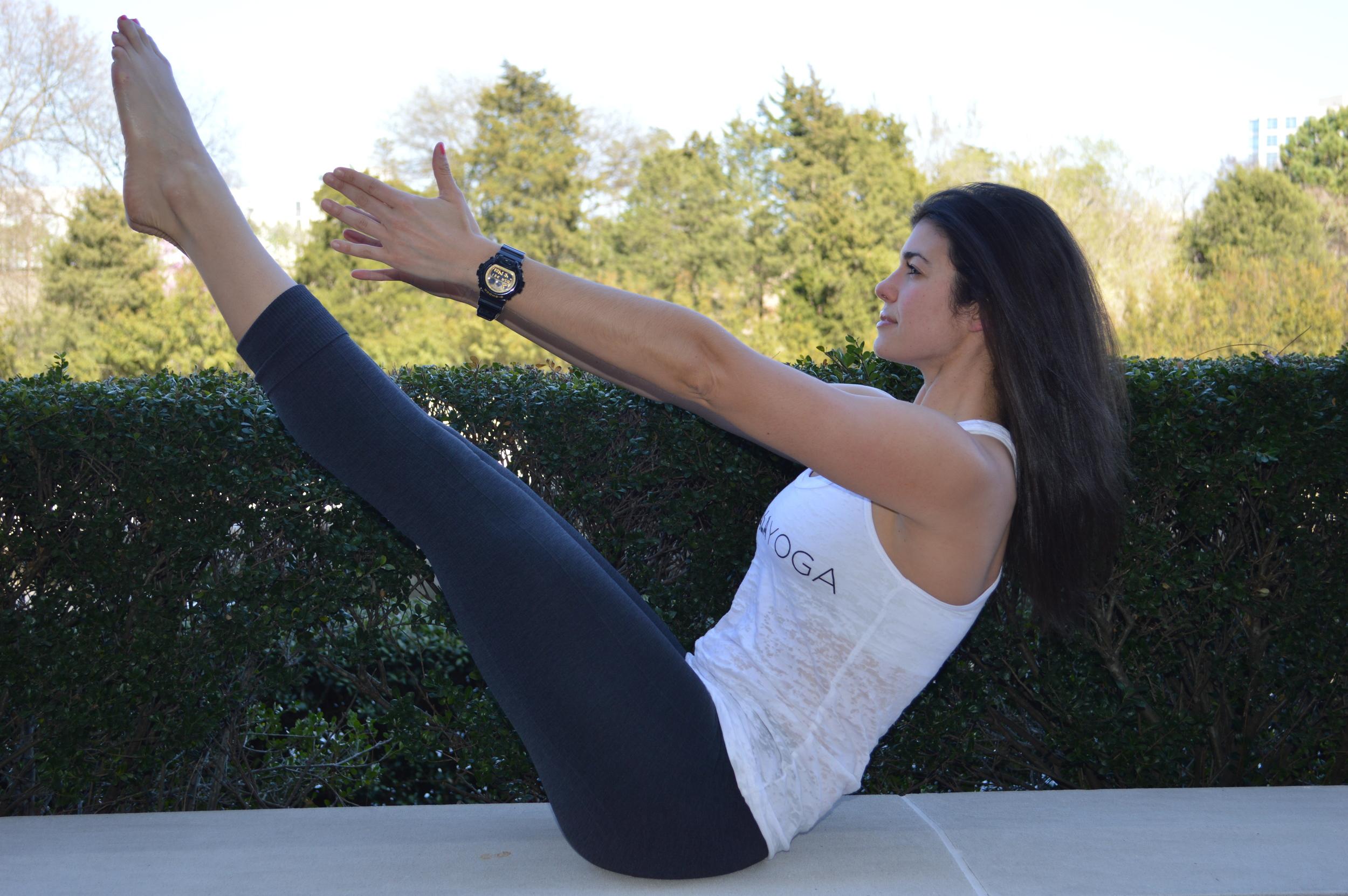 Navasana - Boat Pose - Lauren Schwaiger - Yoga