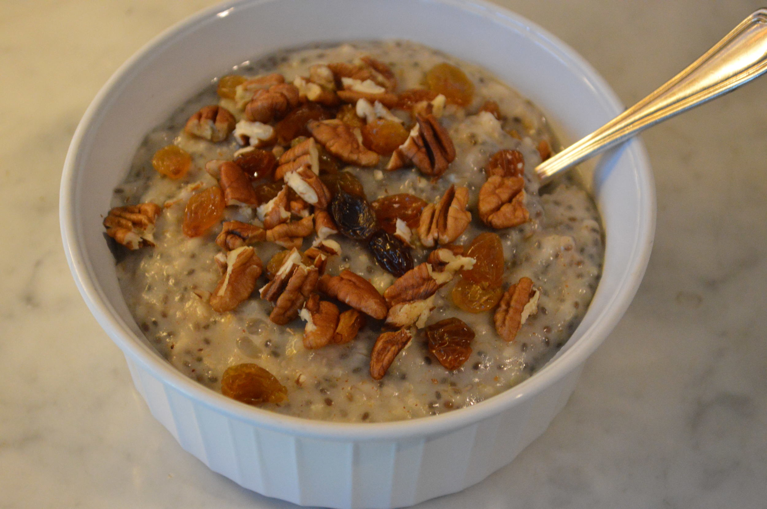 Oatmeal + Golden Raisins & Pecans