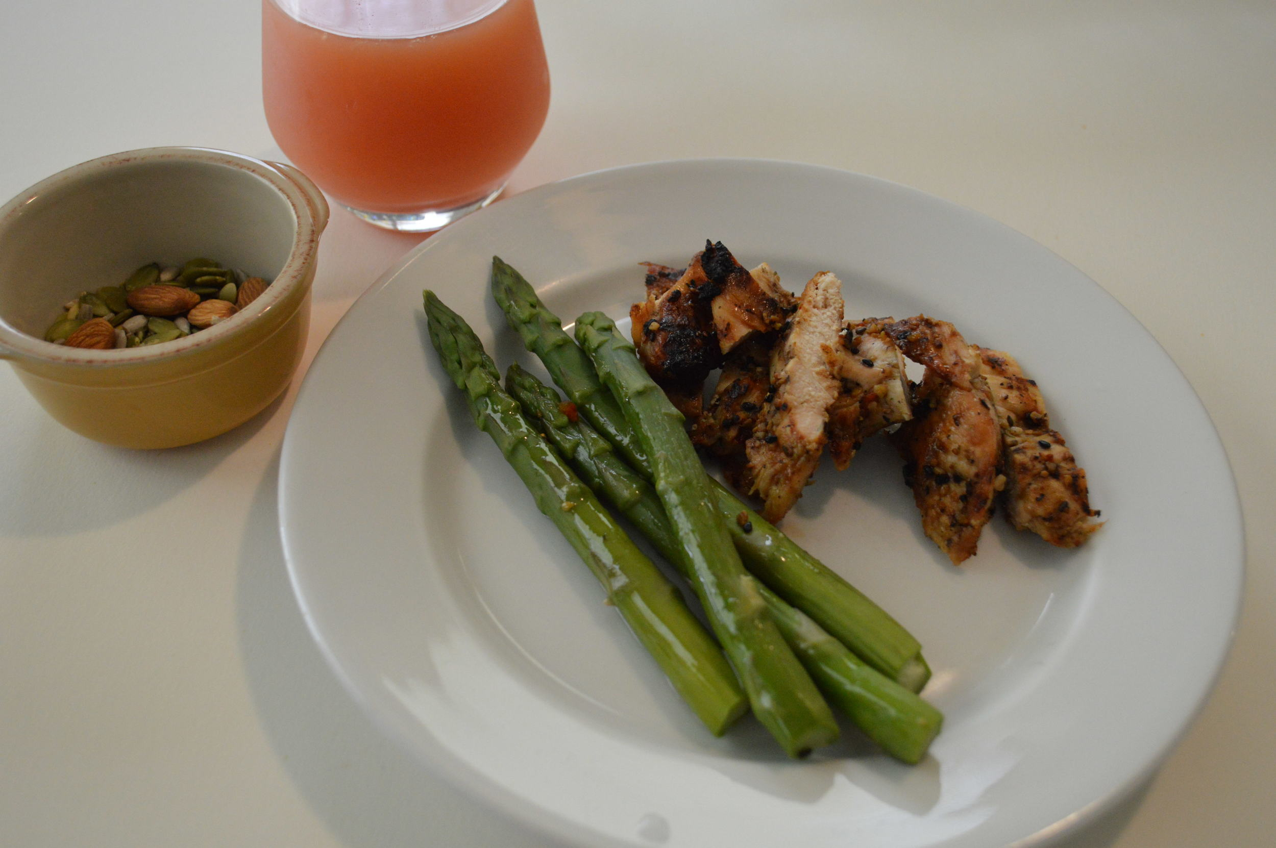 Chicken, Asparagus & Mixed Nuts