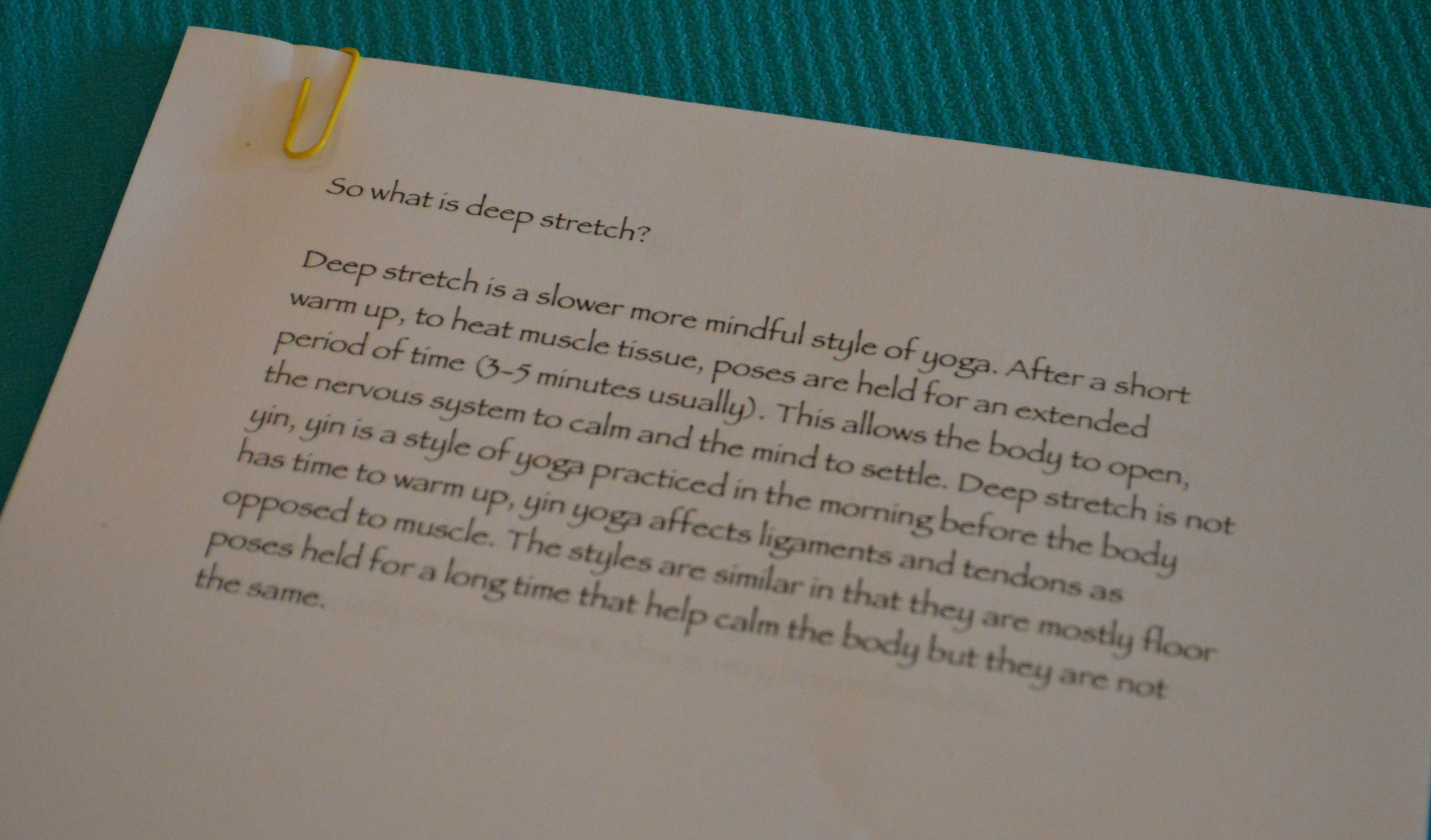 Deep Stretch Definition