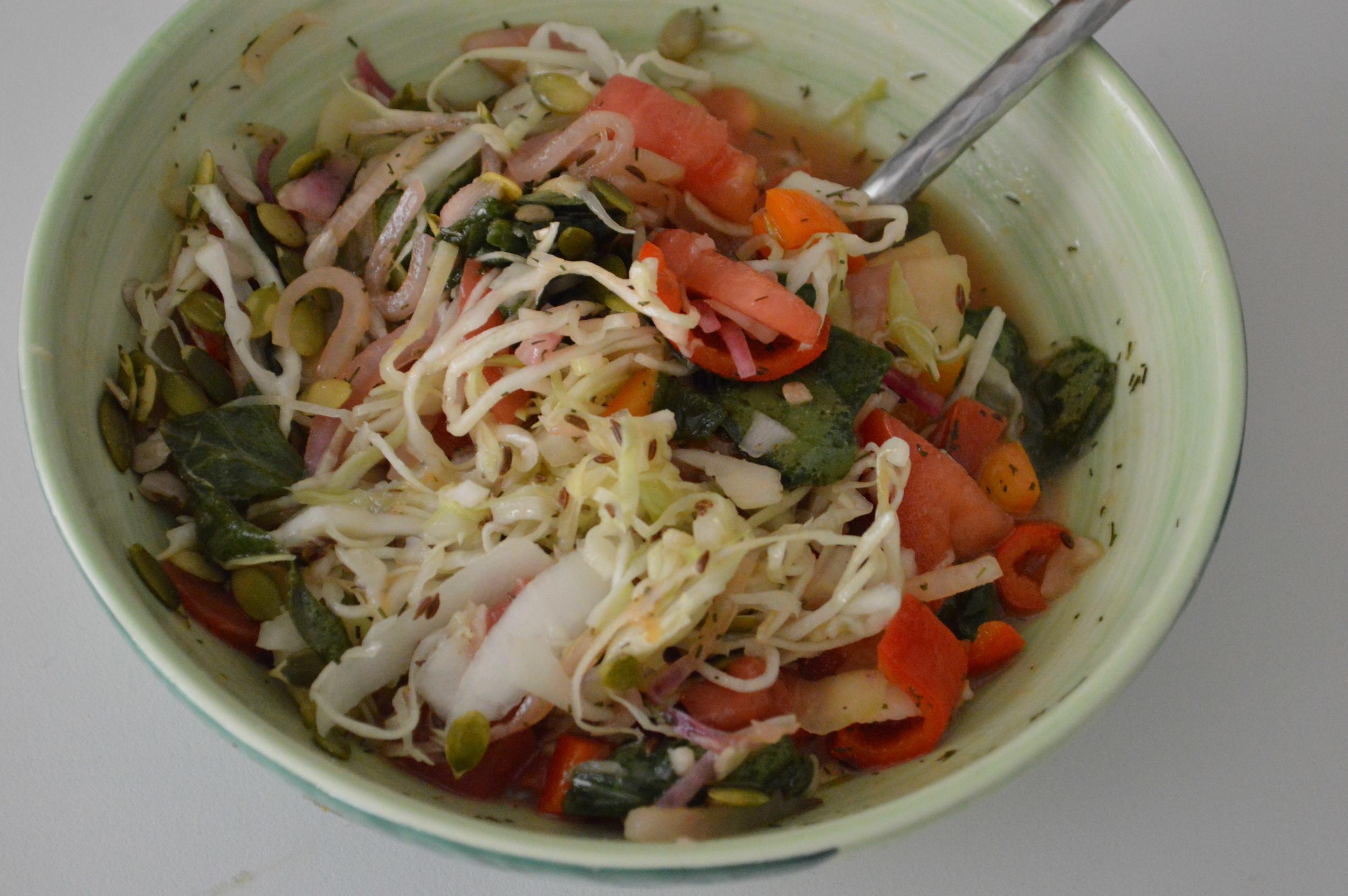 Gemüse Salat