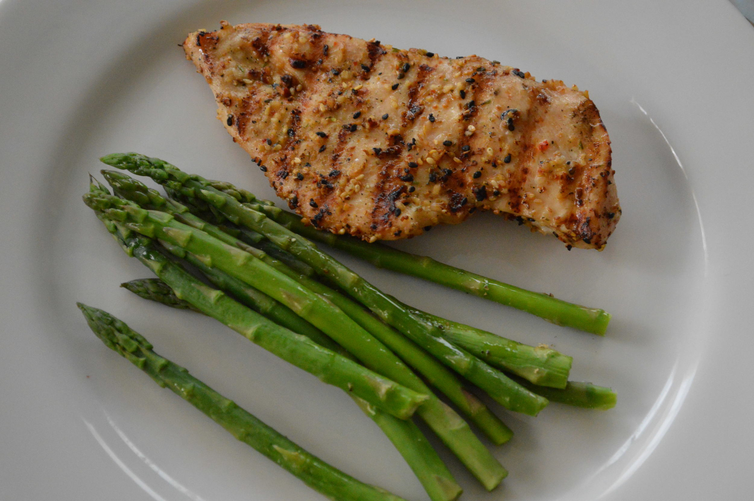 Grilled Chicken + Asparagus