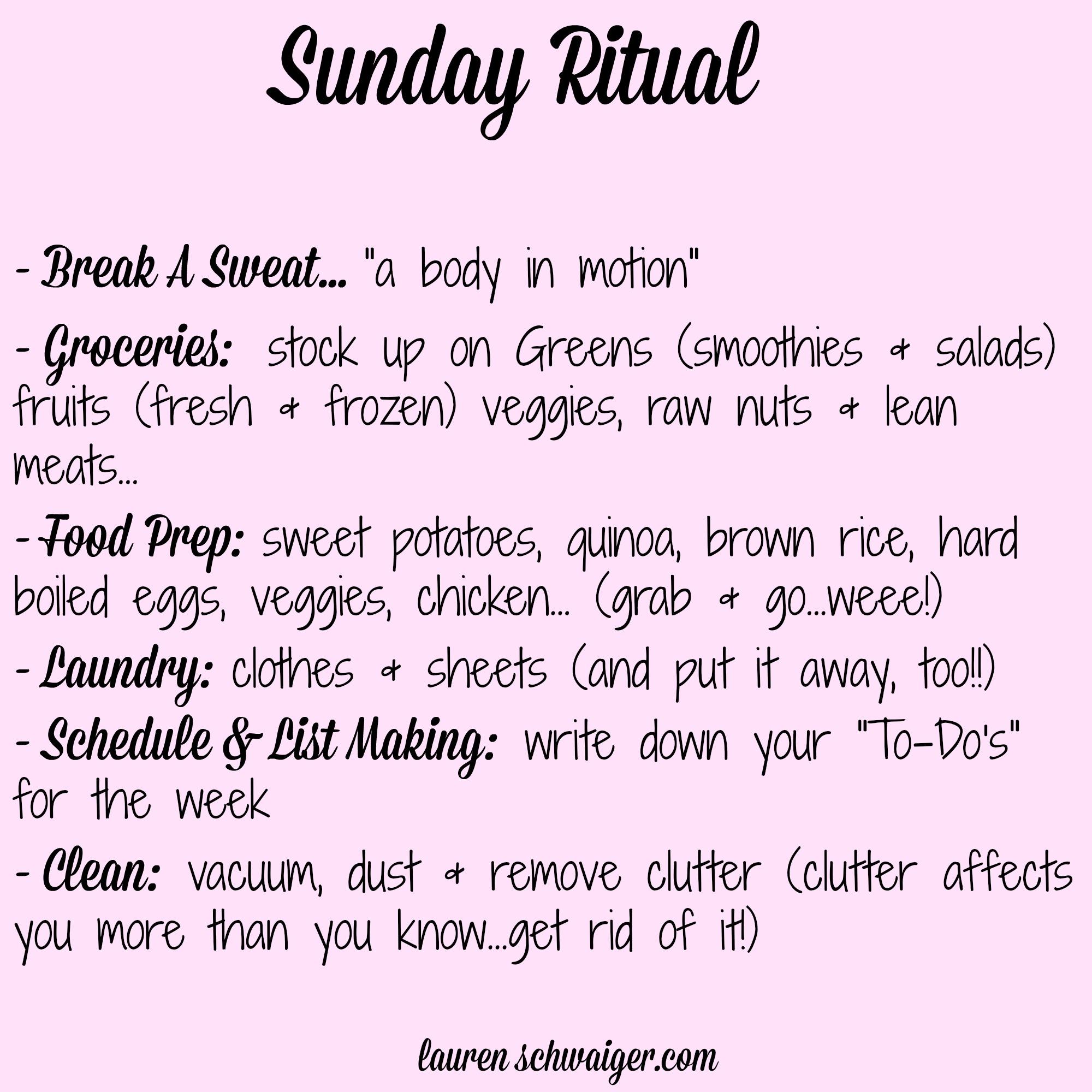 Sunday Ritual - laurenschwaiger.com