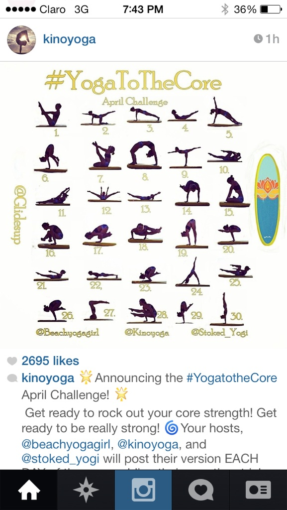#yogatothecore - April Yoga Challenge