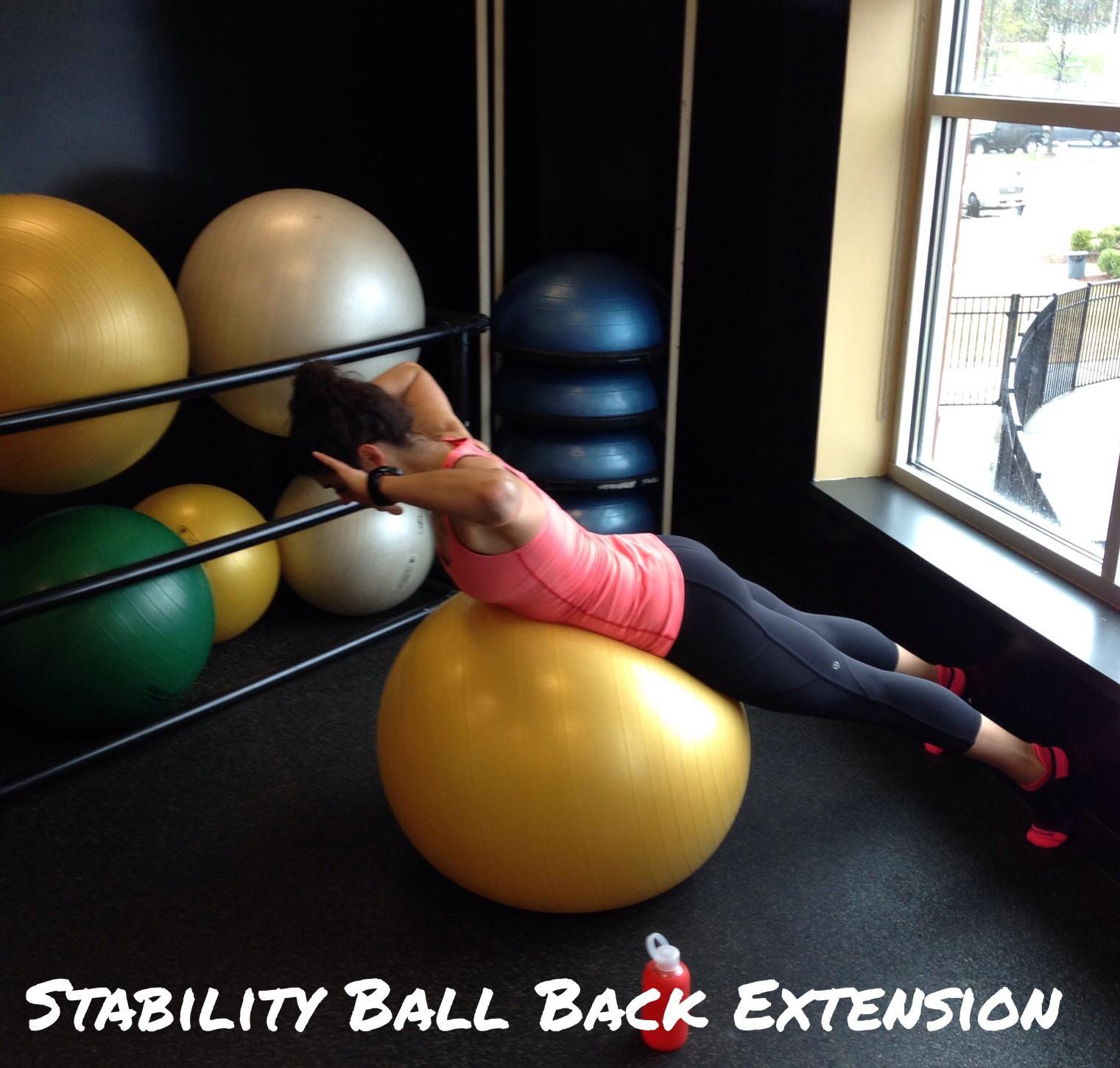 Stability Ball Back Extension - Lauren Schwaiger
