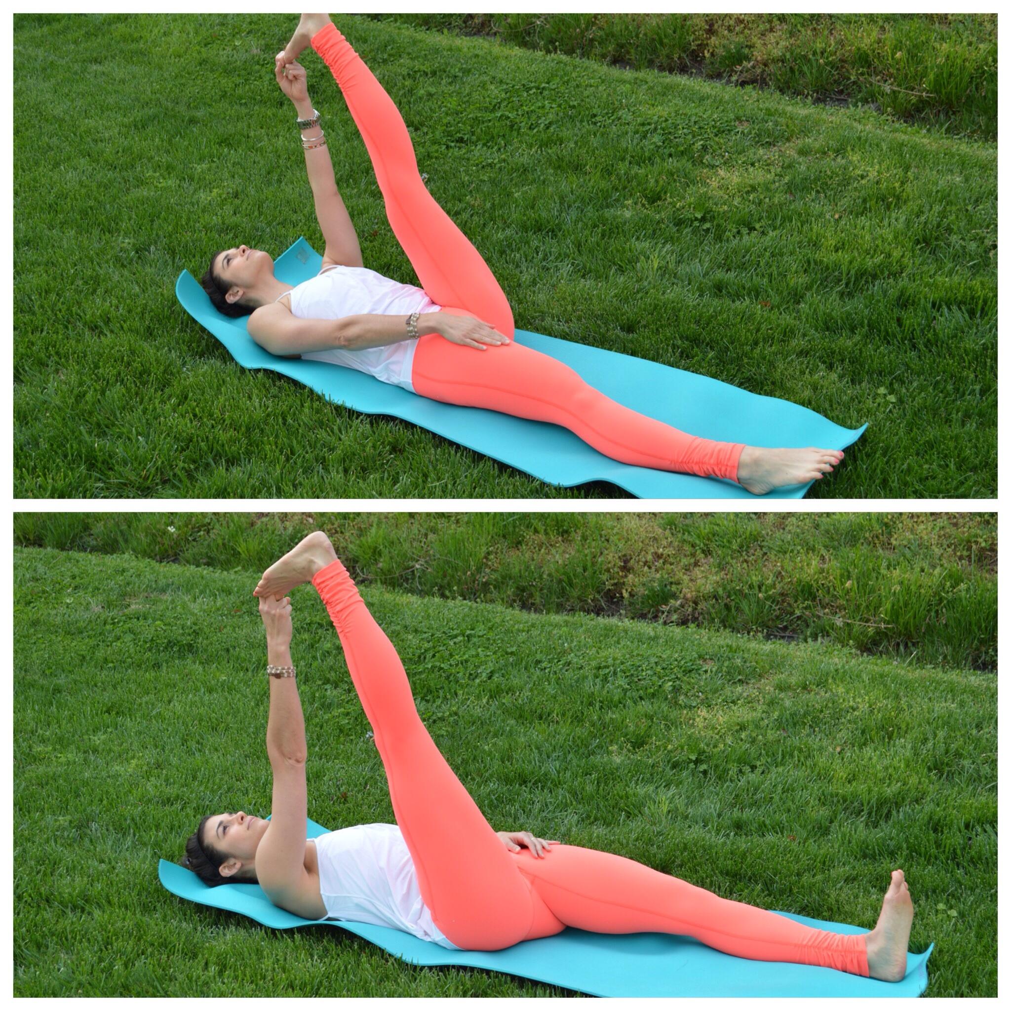 Reclining Big Toe Pose - LS - Yoga