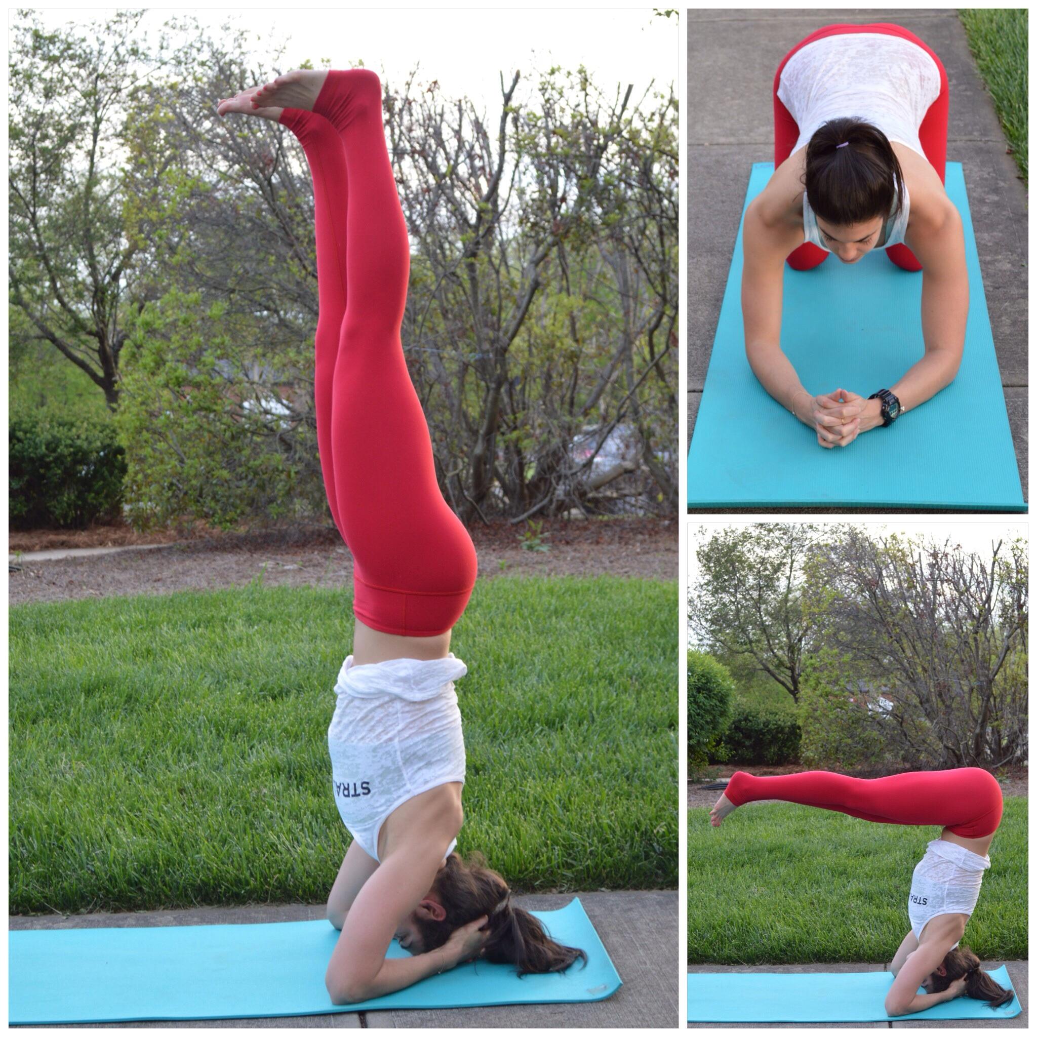 supported headstand pike up - lauren schwaiger yoga