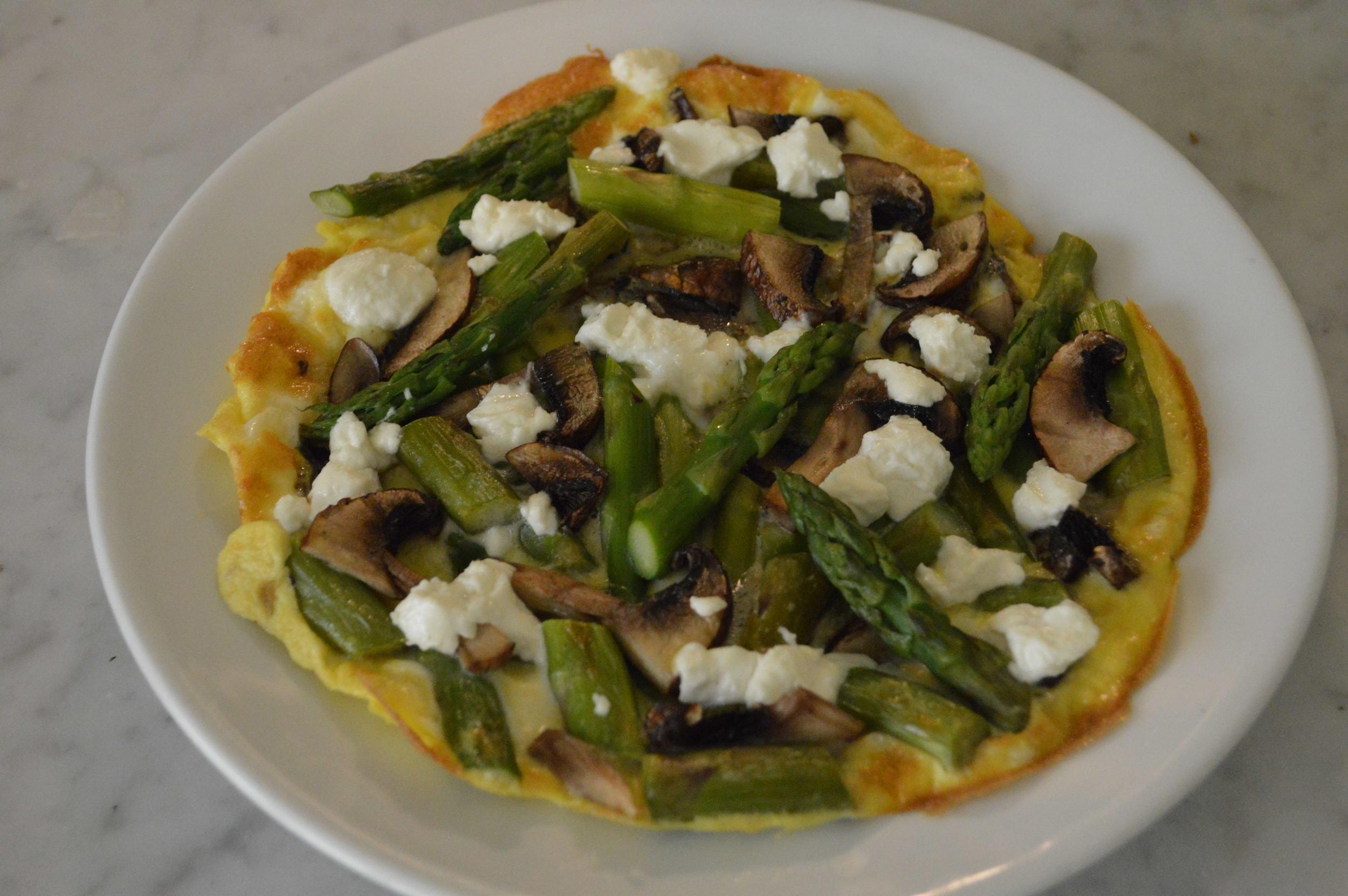veggie open faced omelette