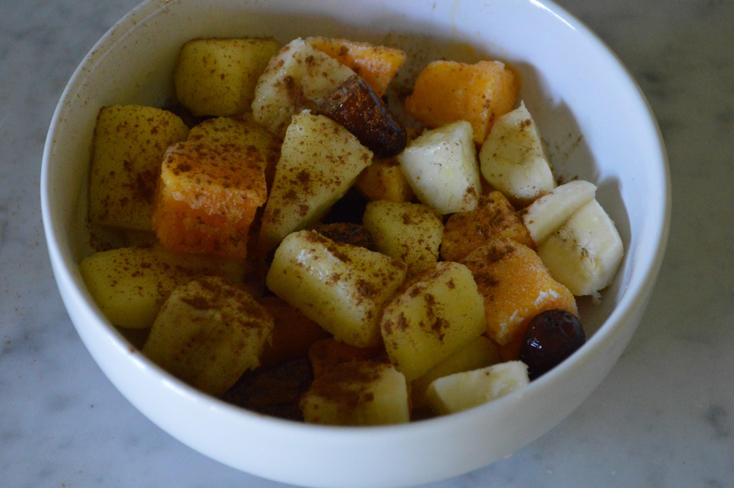 fruits + cinnamon