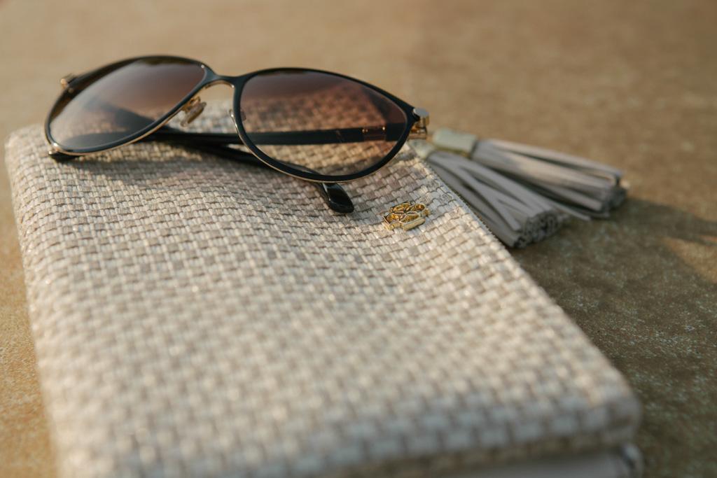 Ann Taylor Clutch, Jimmy Choo Sunglasses