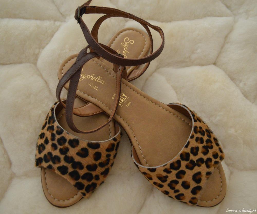 Leopard Print Seychelles Sandals