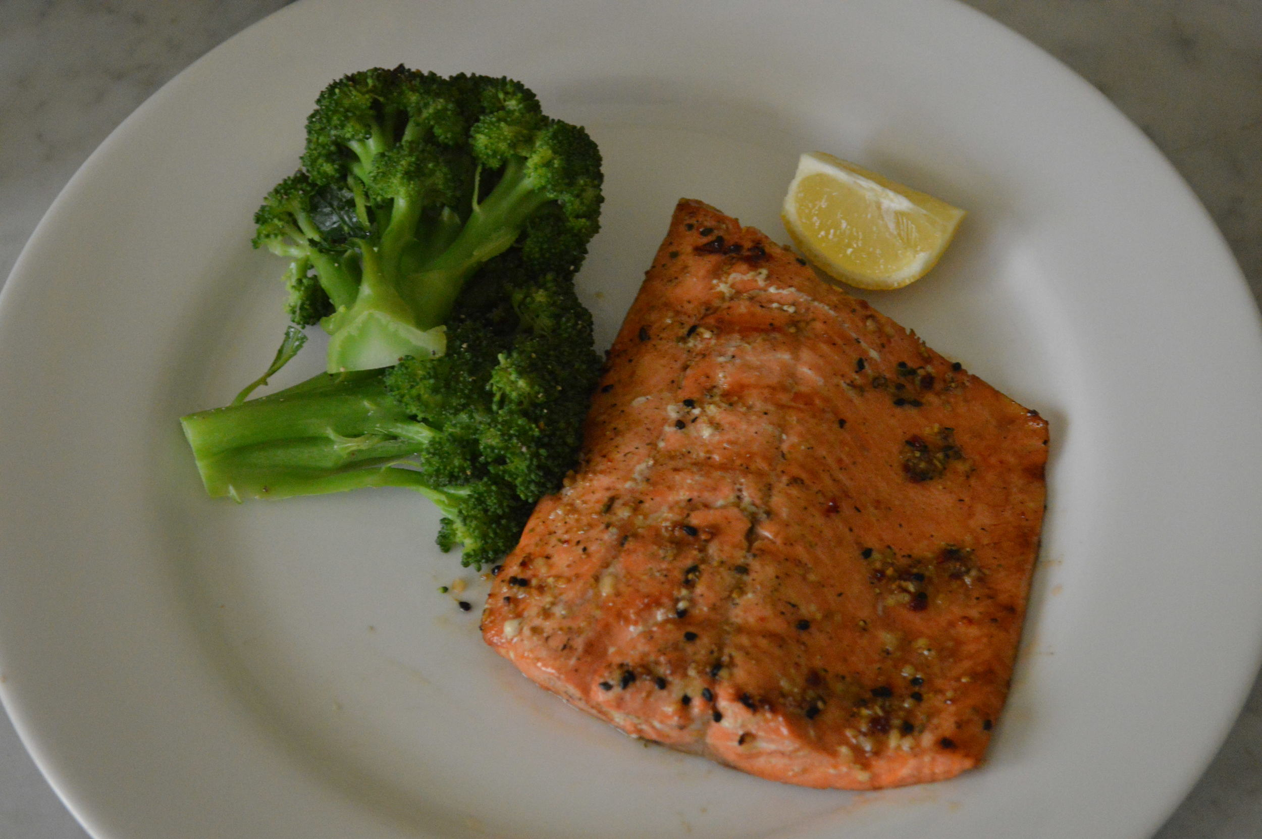 salmon + broccoli