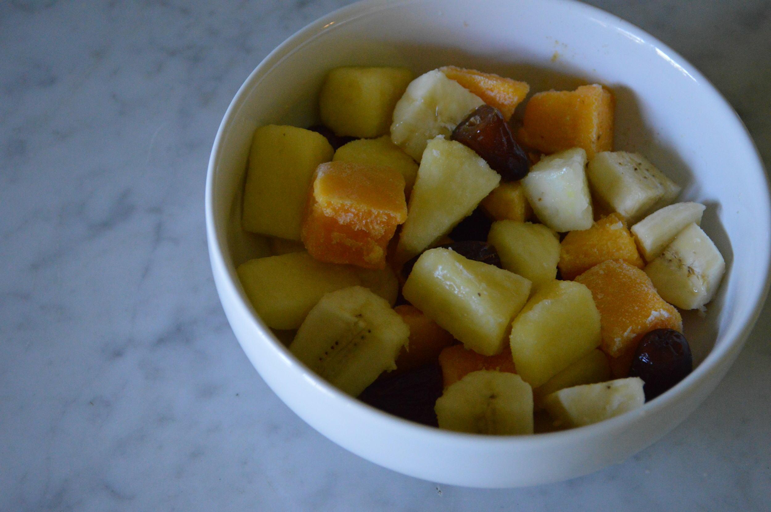 banana, mango, pineapple & dates