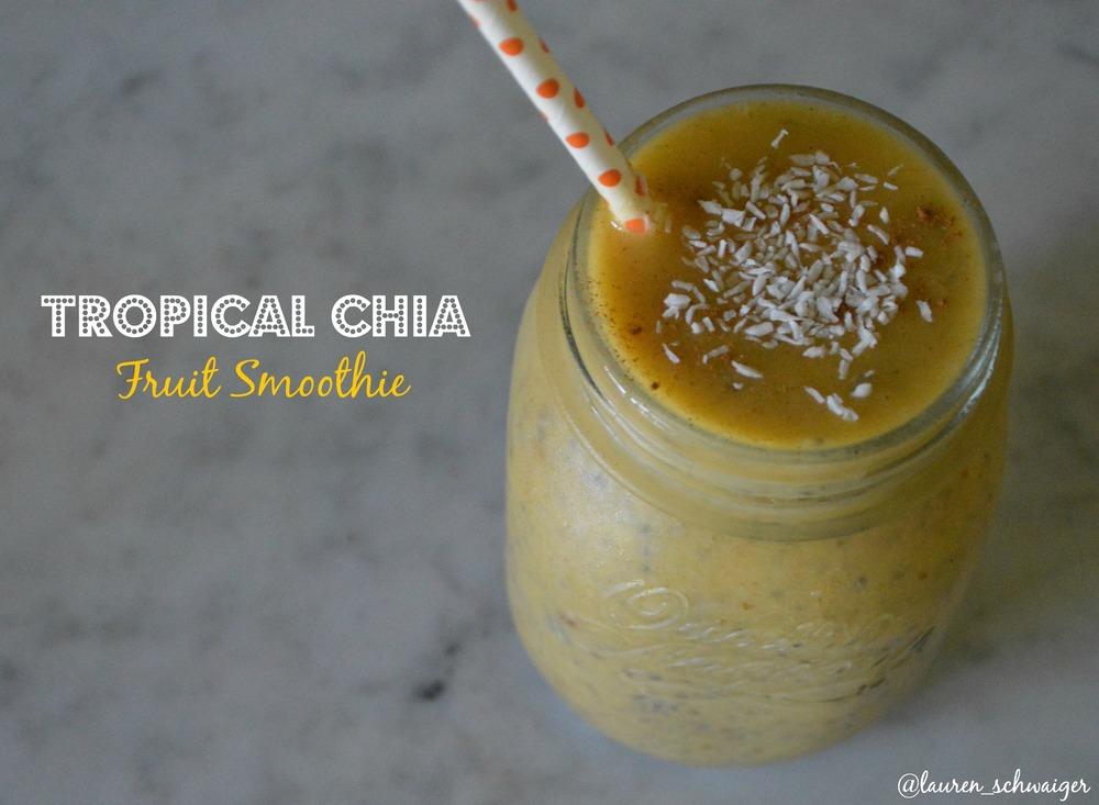 Tropical Chia Fruit Smoothie