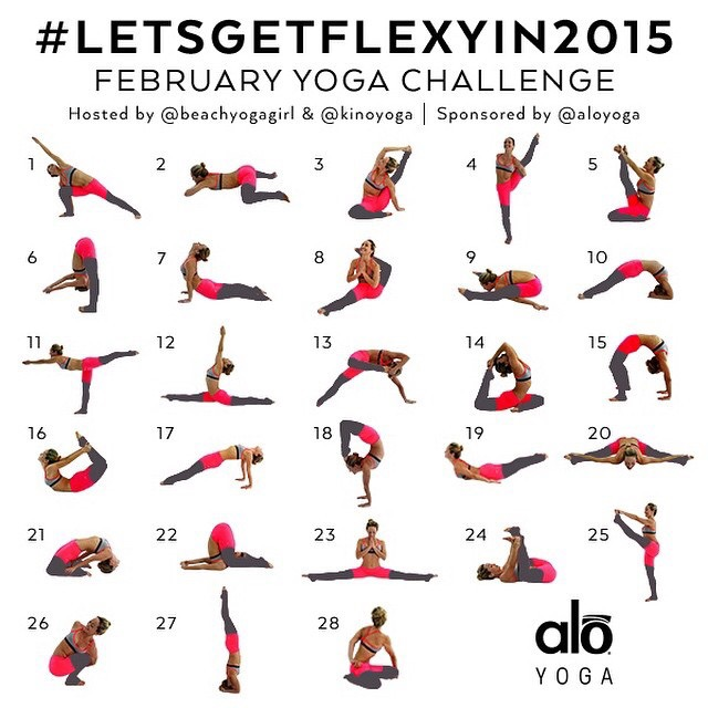 February-Yoga-Challenge-#LetsGetFlexyIn2015-