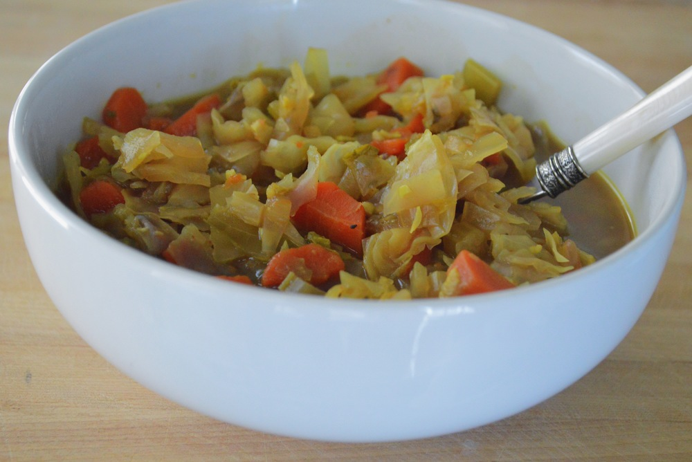 warming winter detox cabbage soup